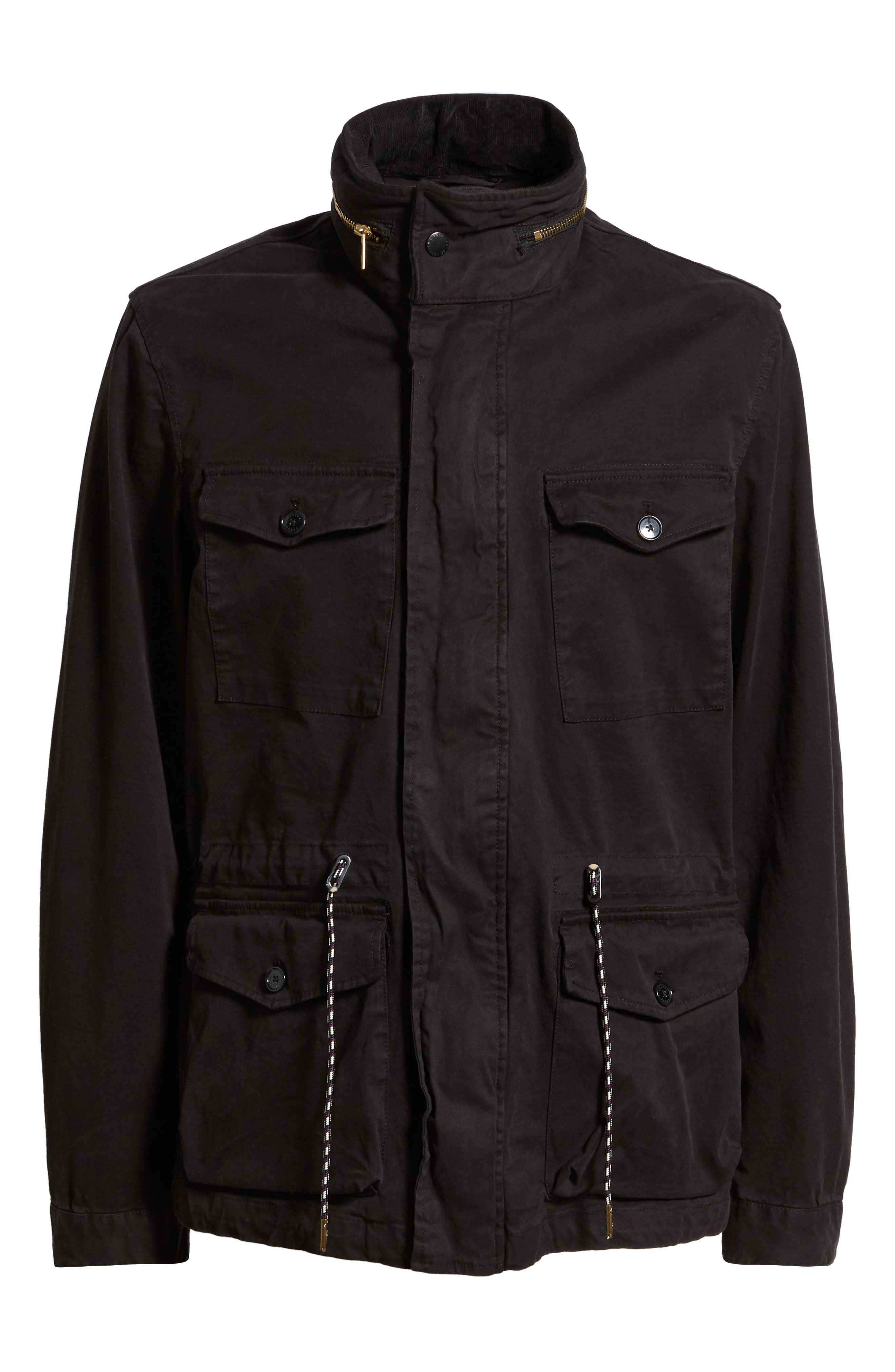 Garment Dyed Field Jacket,                             Alternate thumbnail 5, color,                             001