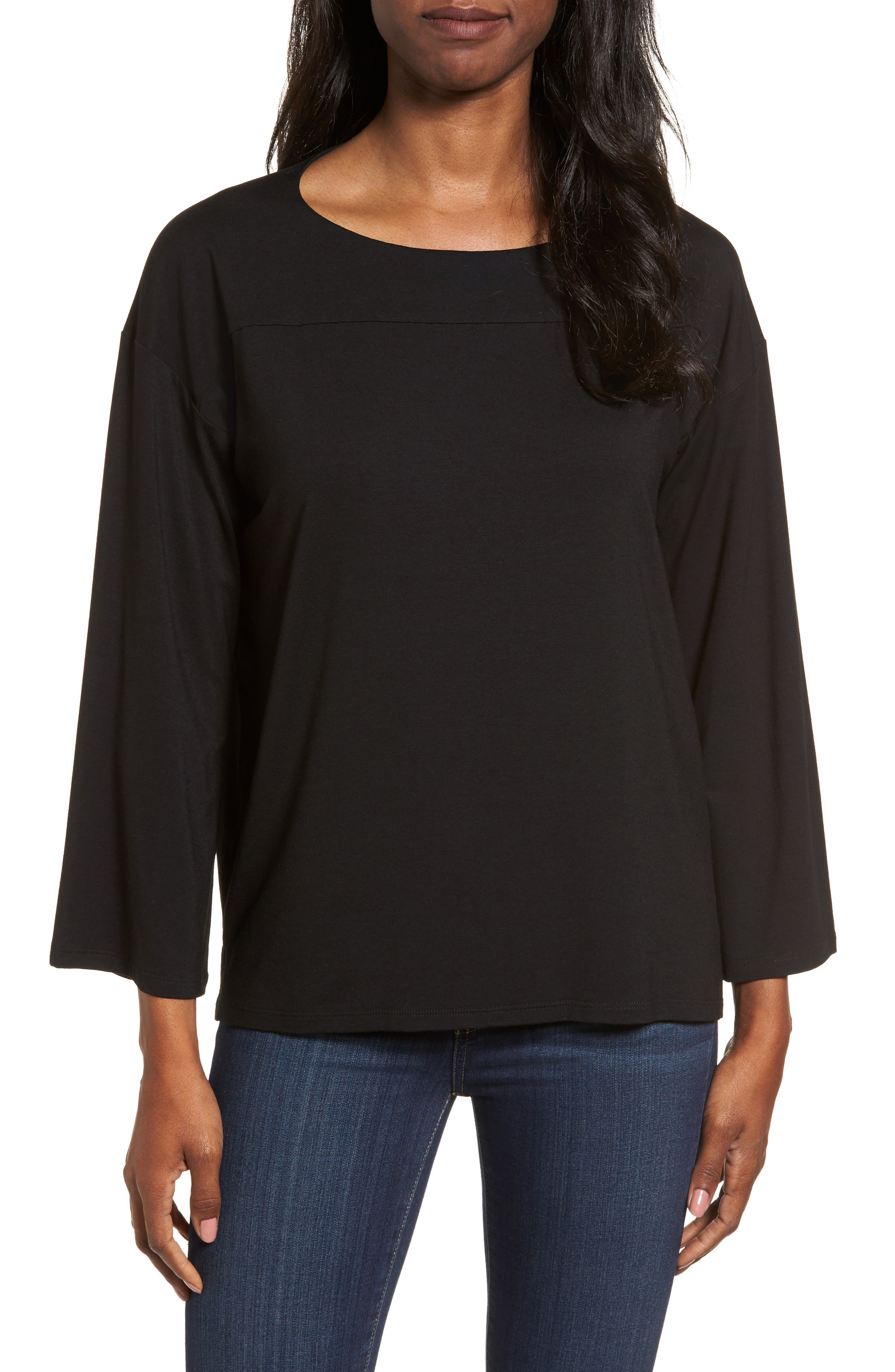 Boxy Jersey Top,                             Main thumbnail 1, color,                             001