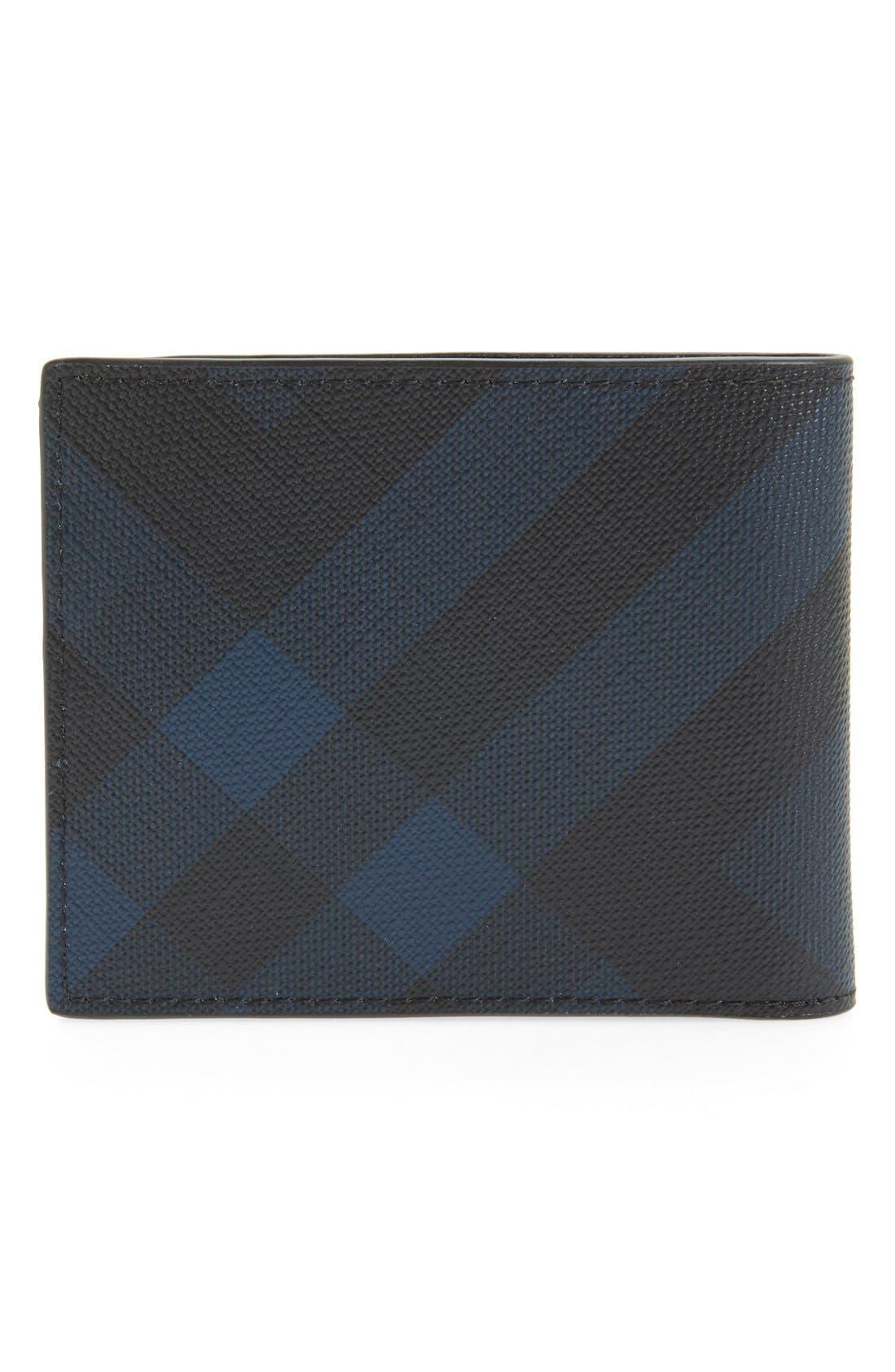 Check Wallet,                             Alternate thumbnail 2, color,                             NAVY/ BLACK