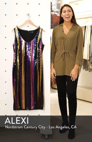 Veda Sequin Stripe Dress, sales video thumbnail