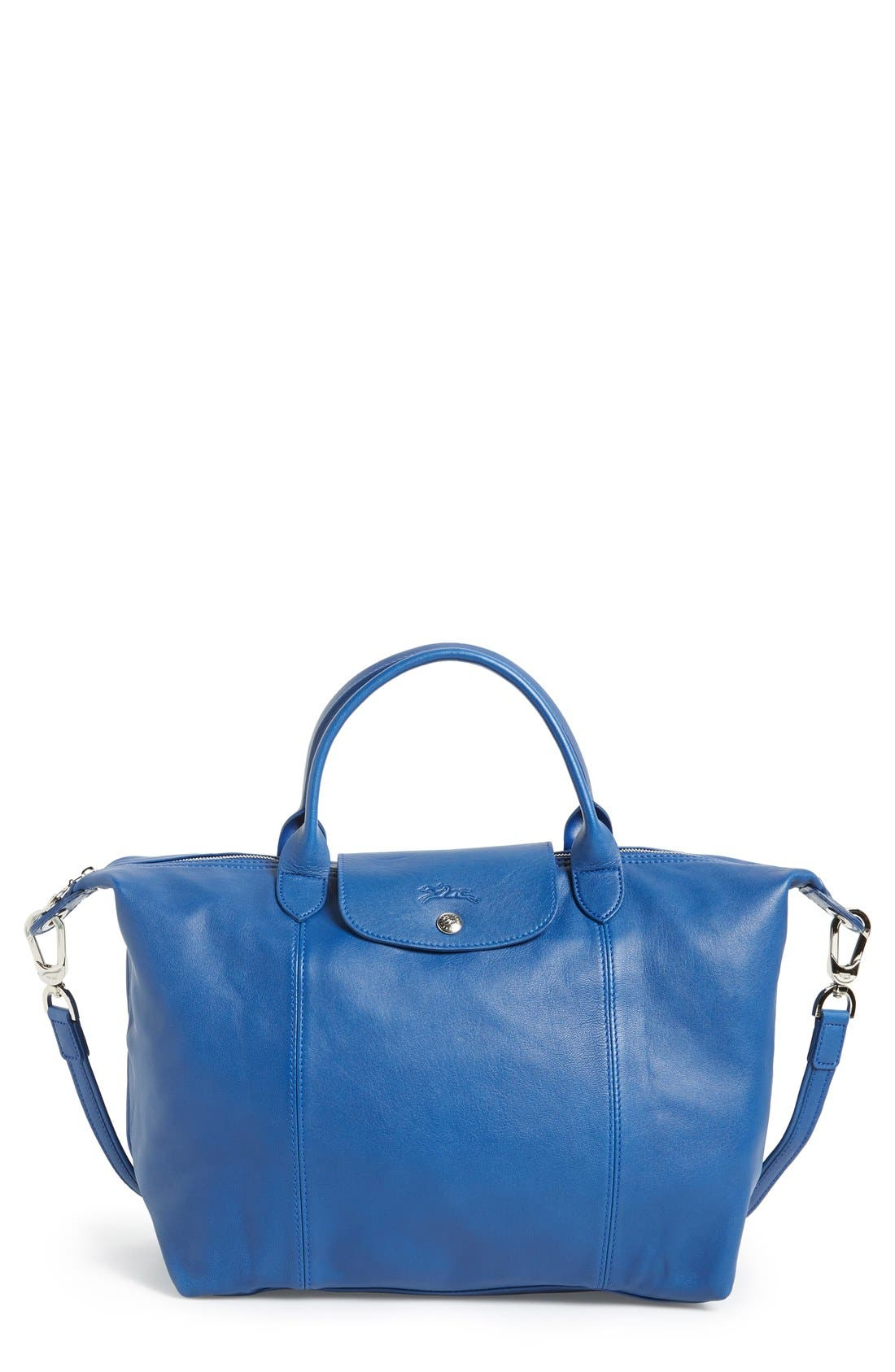 Medium 'Le Pliage Cuir' Leather Top Handle Tote,                             Main thumbnail 16, color,