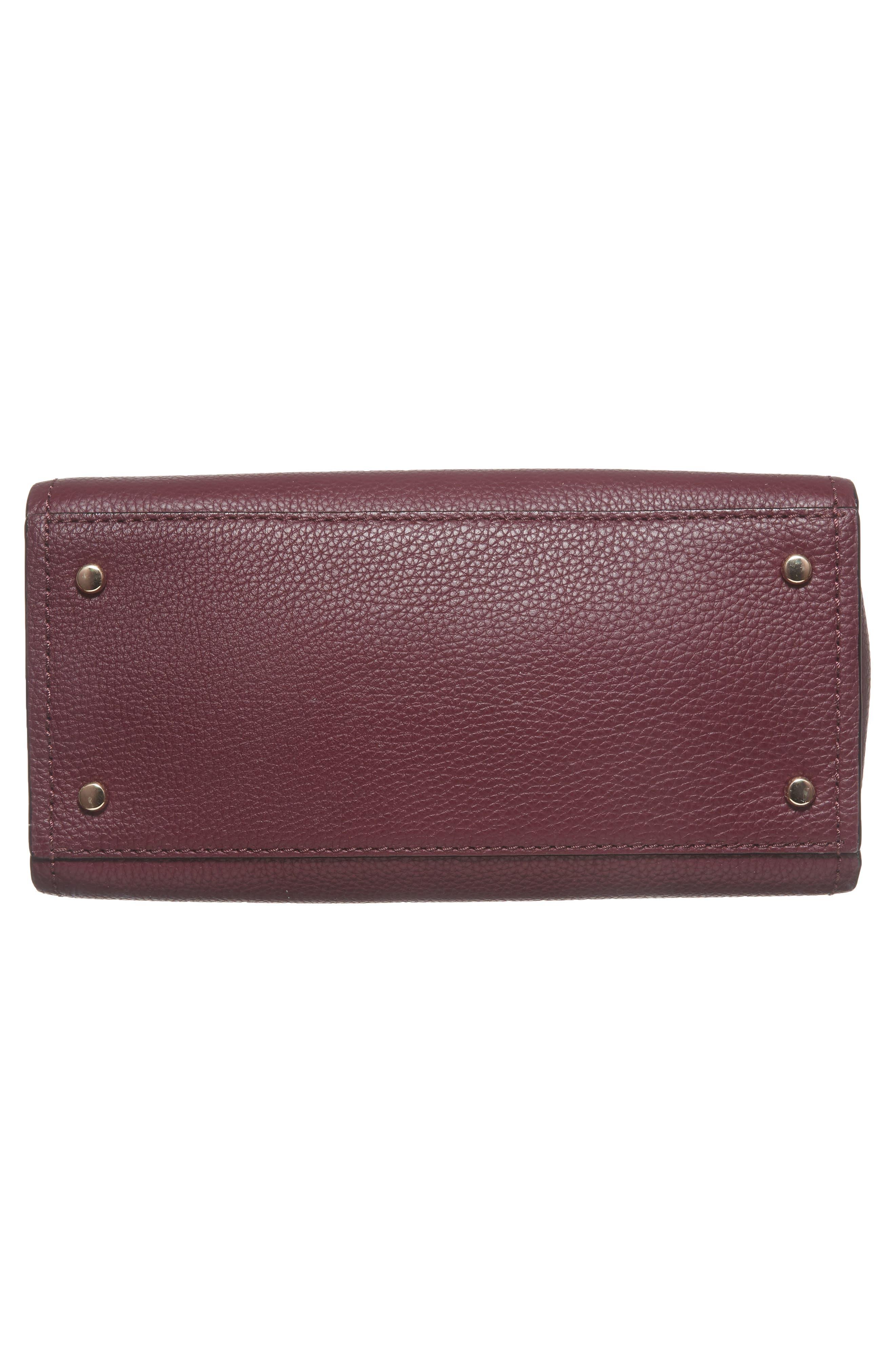 jackson street small kiernan leather top handle satchel,                             Alternate thumbnail 6, color,                             545