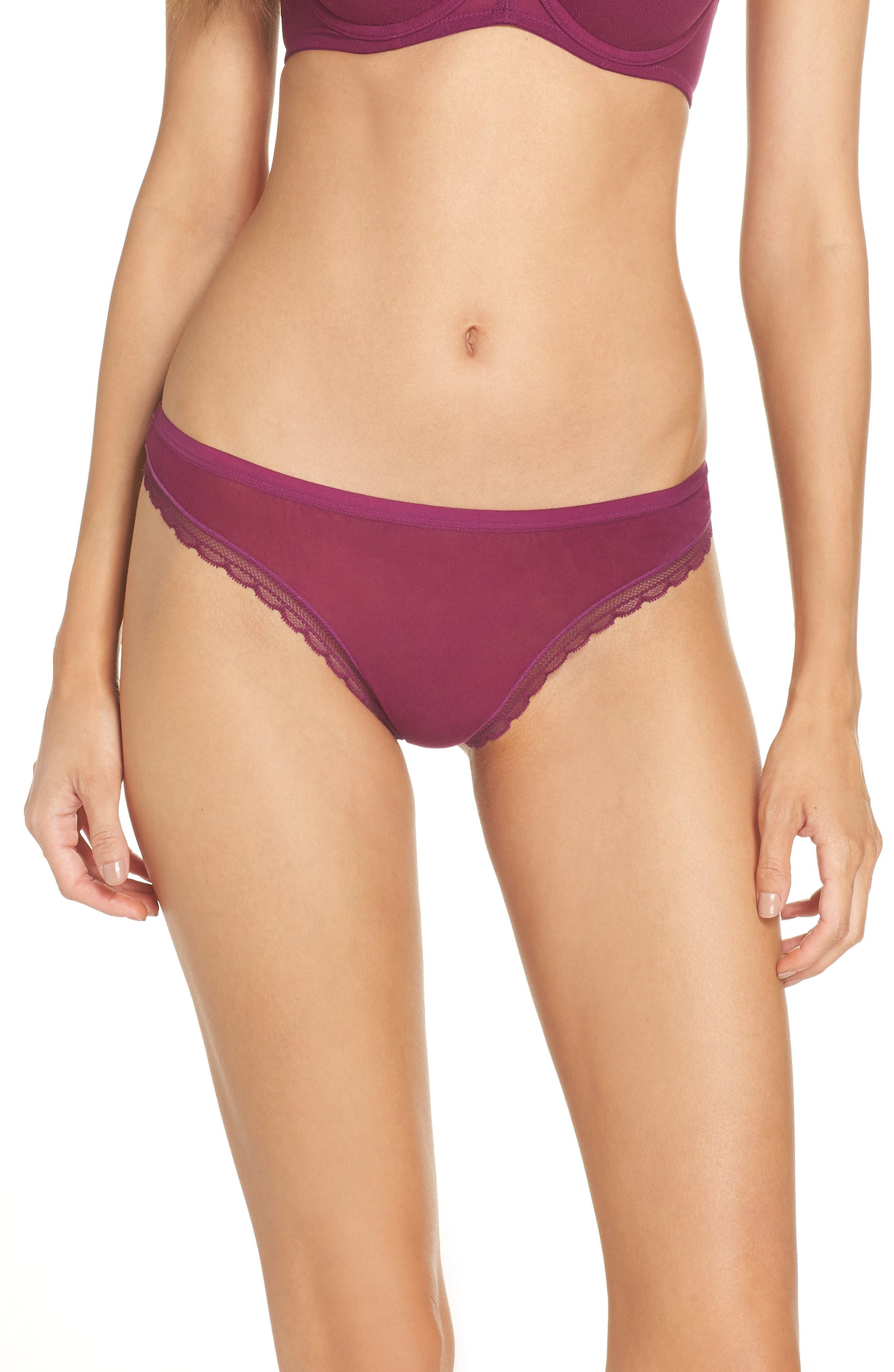 Hip G Thong,                             Main thumbnail 1, color,                             PLUM WINE