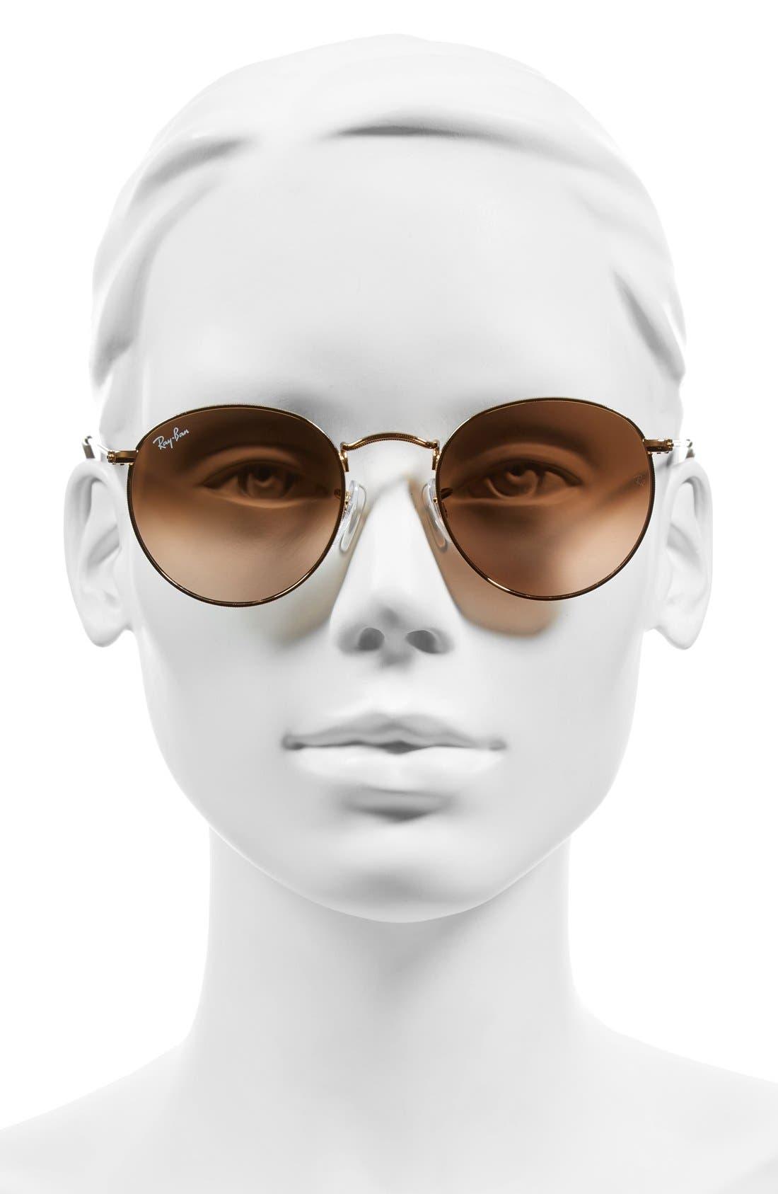 Icons 50mm Retro Sunglasses,                             Alternate thumbnail 6, color,