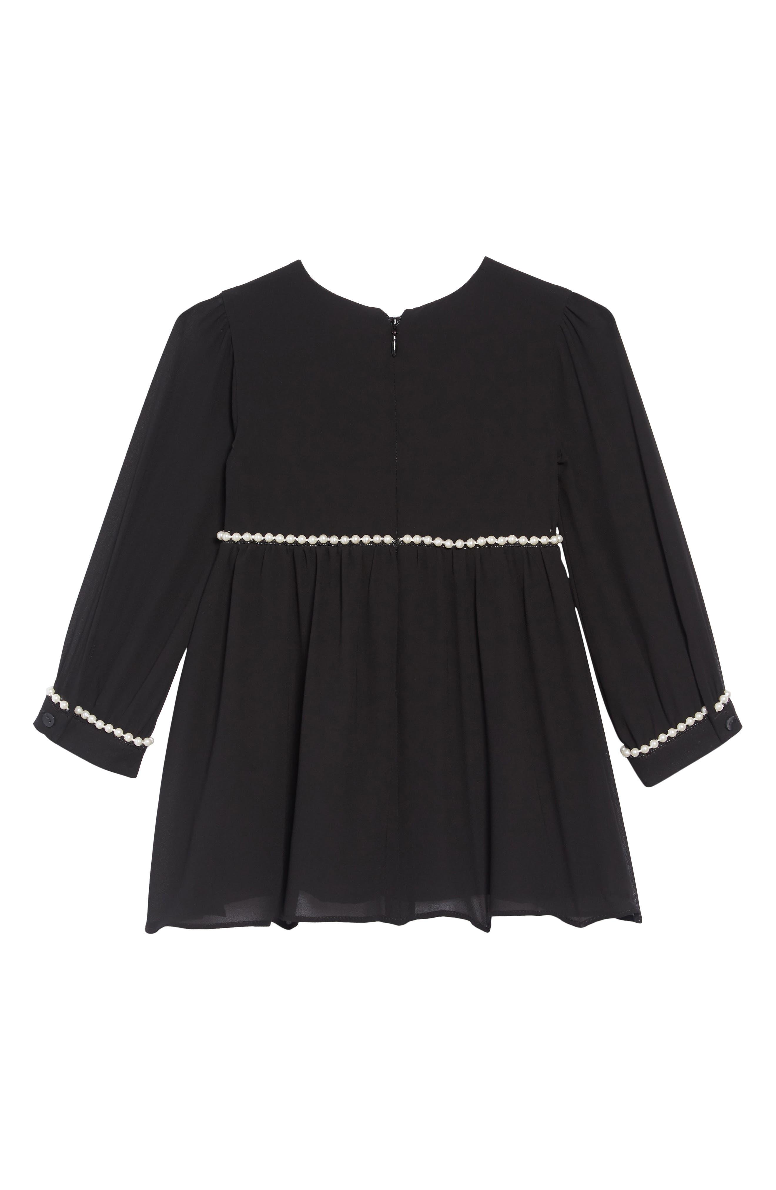 Valentina Embellished Dress,                             Alternate thumbnail 2, color,                             JET BLACK