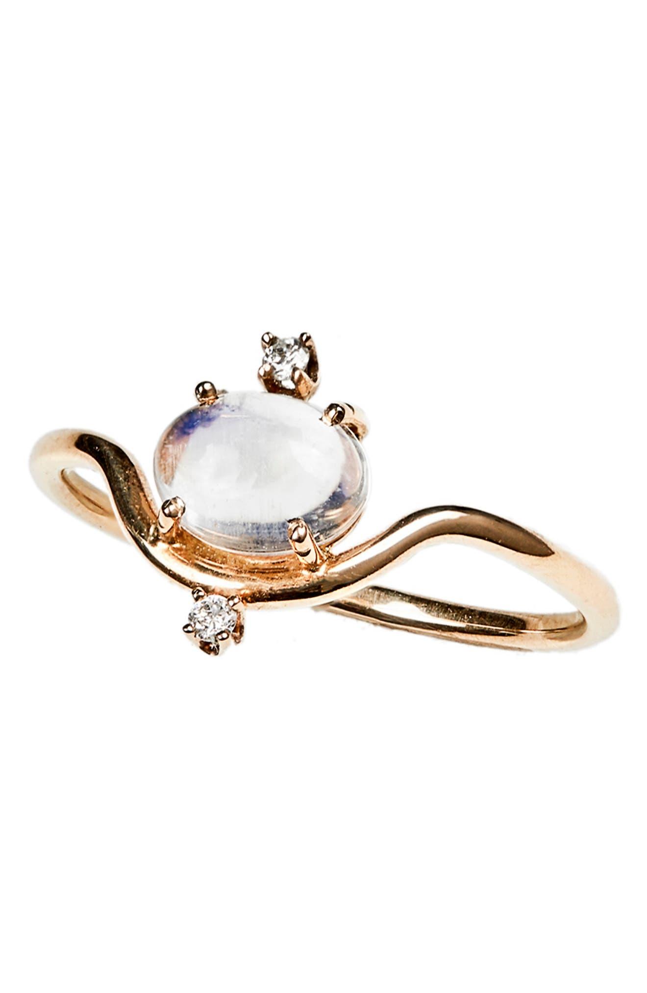 WWAKE,                             Nestled Moonstone & Diamond Ring,                             Alternate thumbnail 2, color,                             710