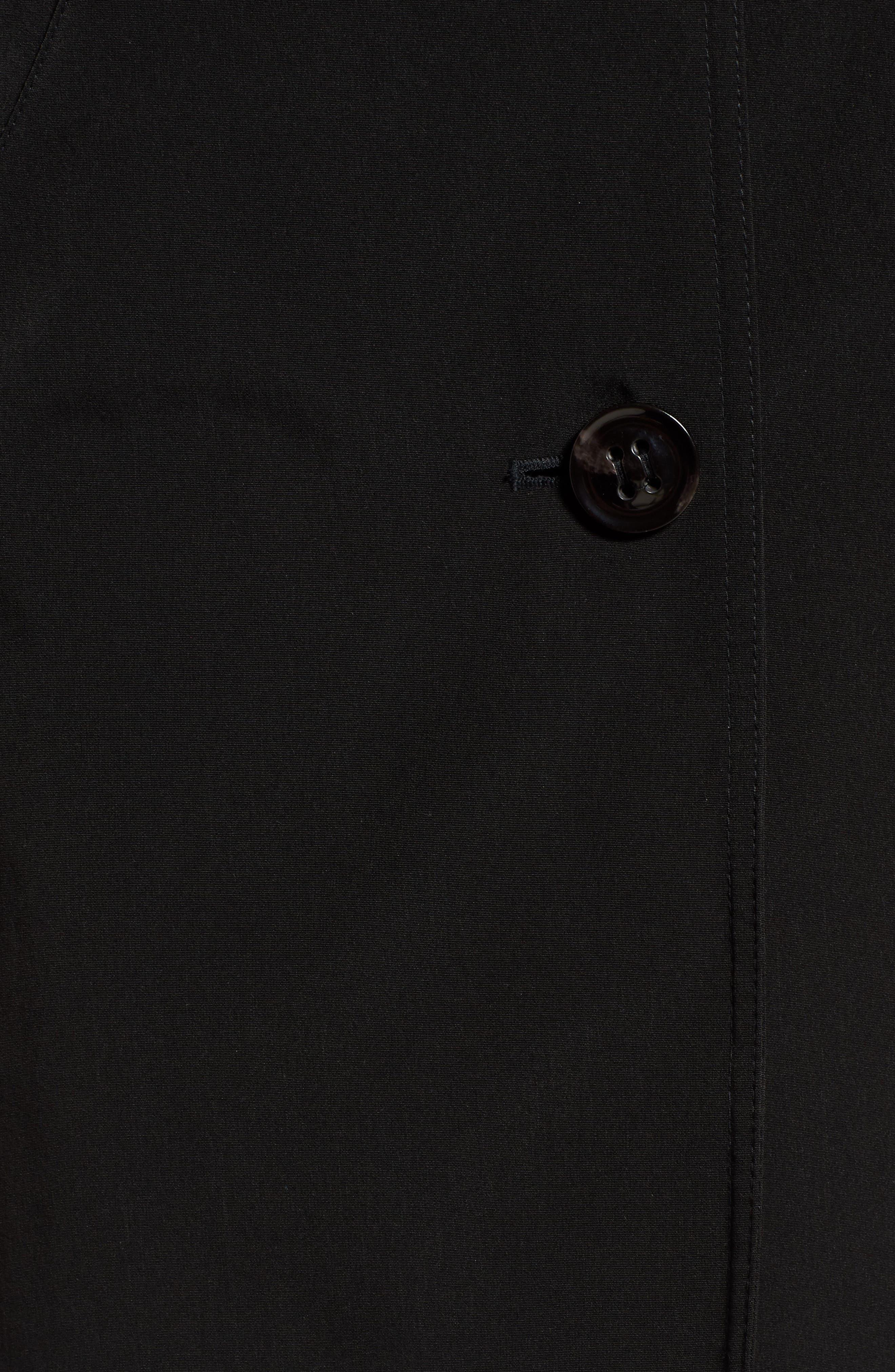 Detachable Hood & Liner Raincoat,                             Alternate thumbnail 7, color,                             BLACK