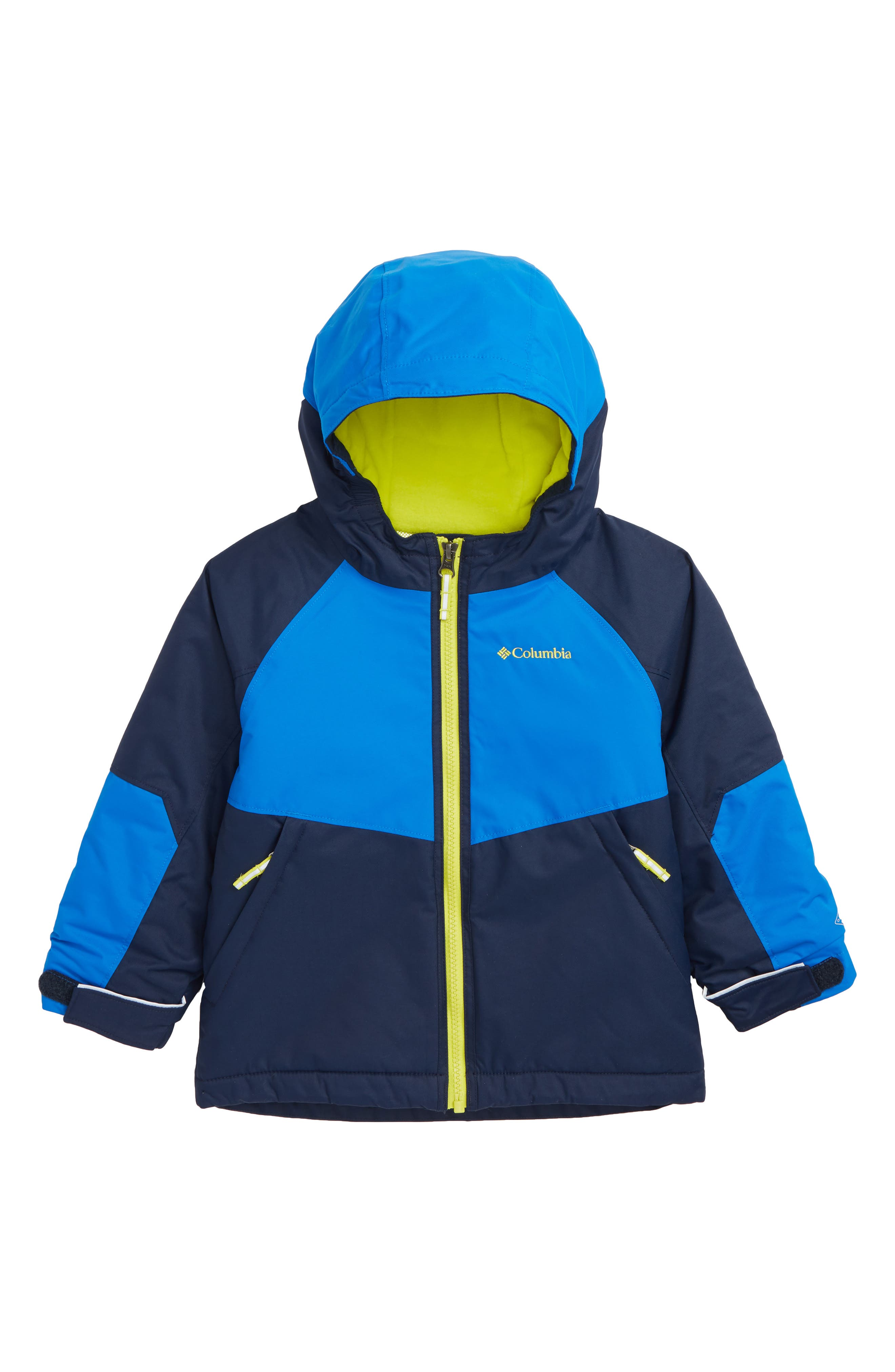 Toddler Boys Columbia Alpine Action Omni Heat Waterproof Hooded Jacket Size 4T  Blue