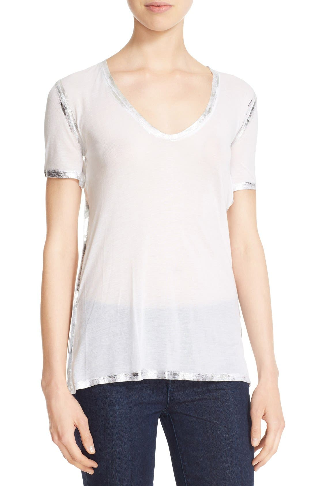 'Tino' Foil Accent Tee,                         Main,                         color, 116