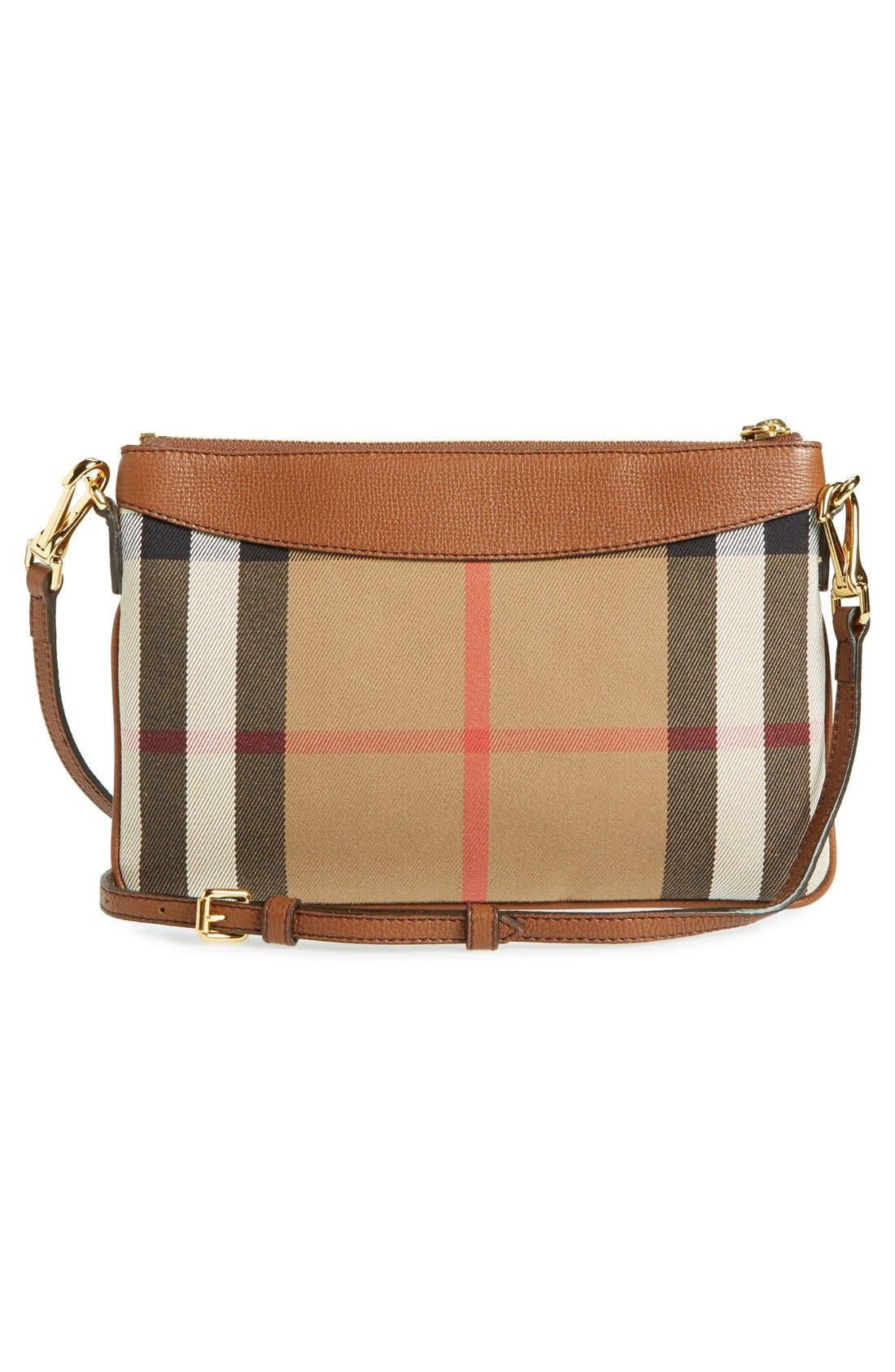 'Peyton - House Check' Crossbody Bag,                             Alternate thumbnail 6, color,                             250