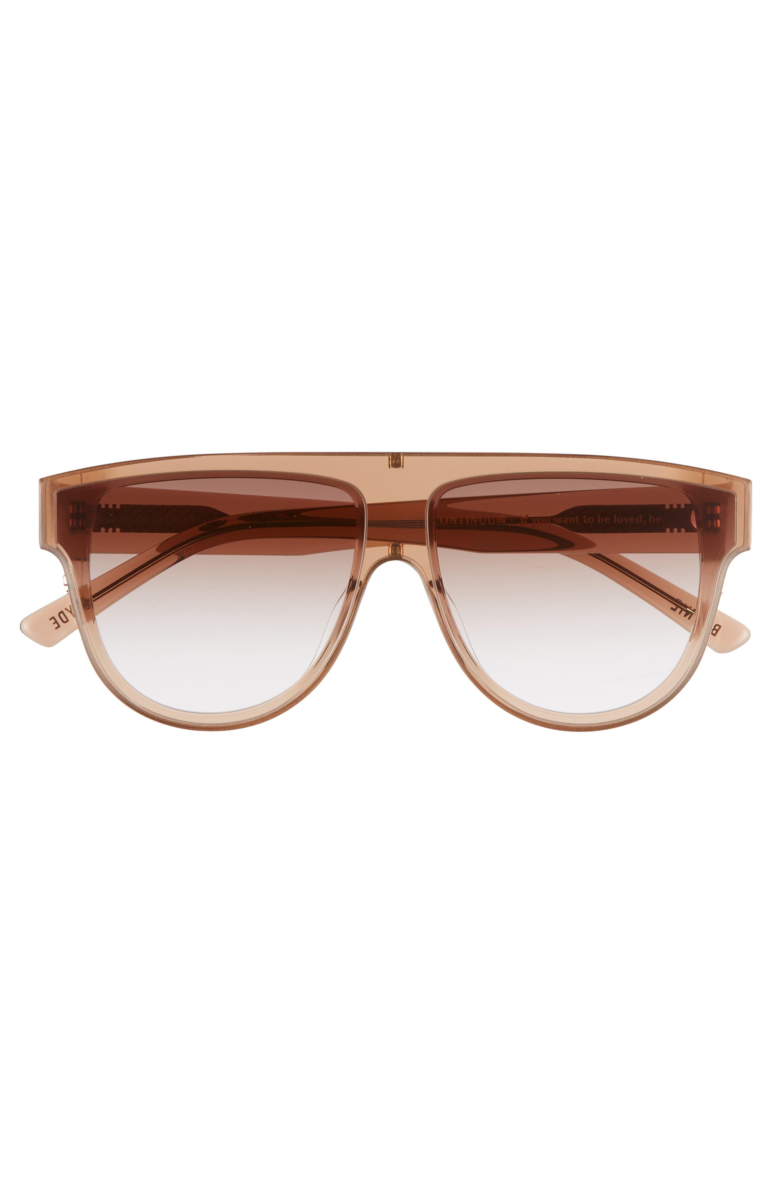 Continuum 63mm Oversize Flat Top Sunglasses,                             Alternate thumbnail 3, color,                             AMBER GRADIENT