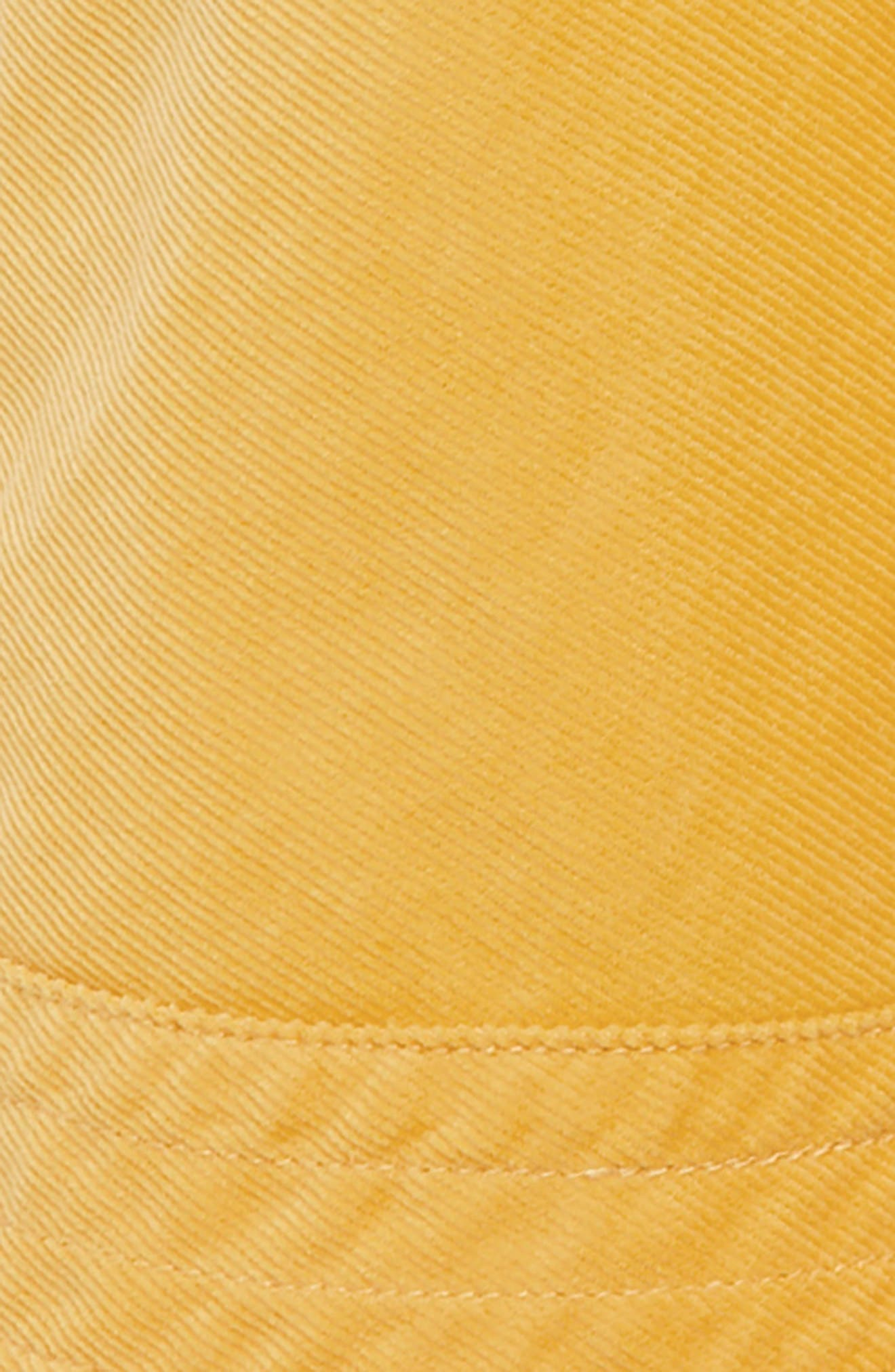 Simple Colorful Corduroy Skirt,                             Alternate thumbnail 2, color,                             HONEYCOMB YELLOW