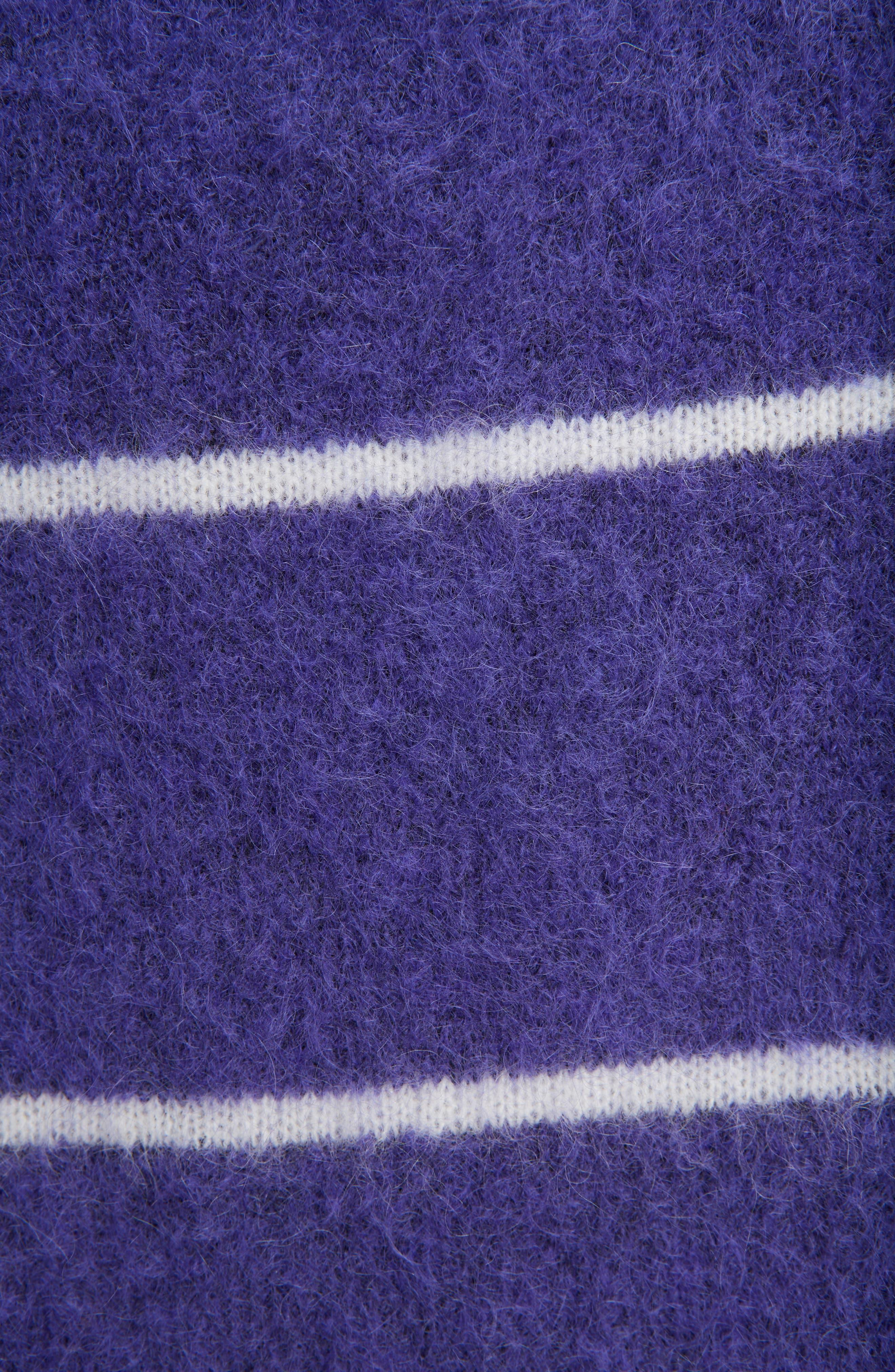 Rhira Stripe Crewneck Sweater,                             Alternate thumbnail 5, color,                             500