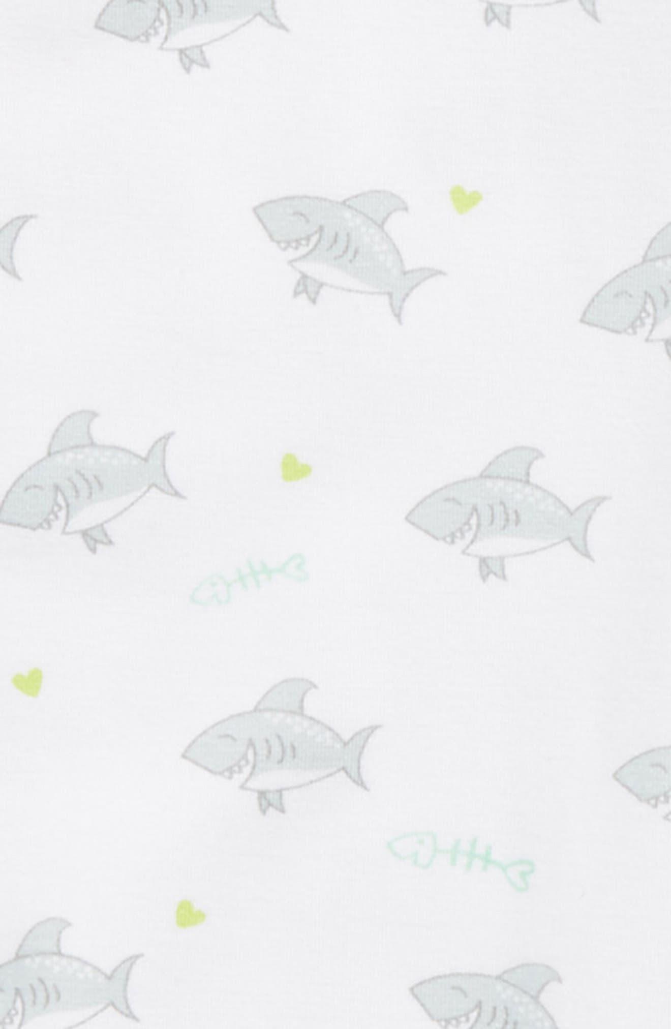 Shark Gown & Hat Set,                             Alternate thumbnail 2, color,                             020