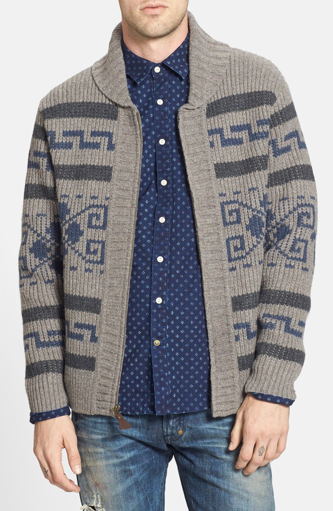 'Westerly' Lambswool Zip Sweater, Main, color, 020