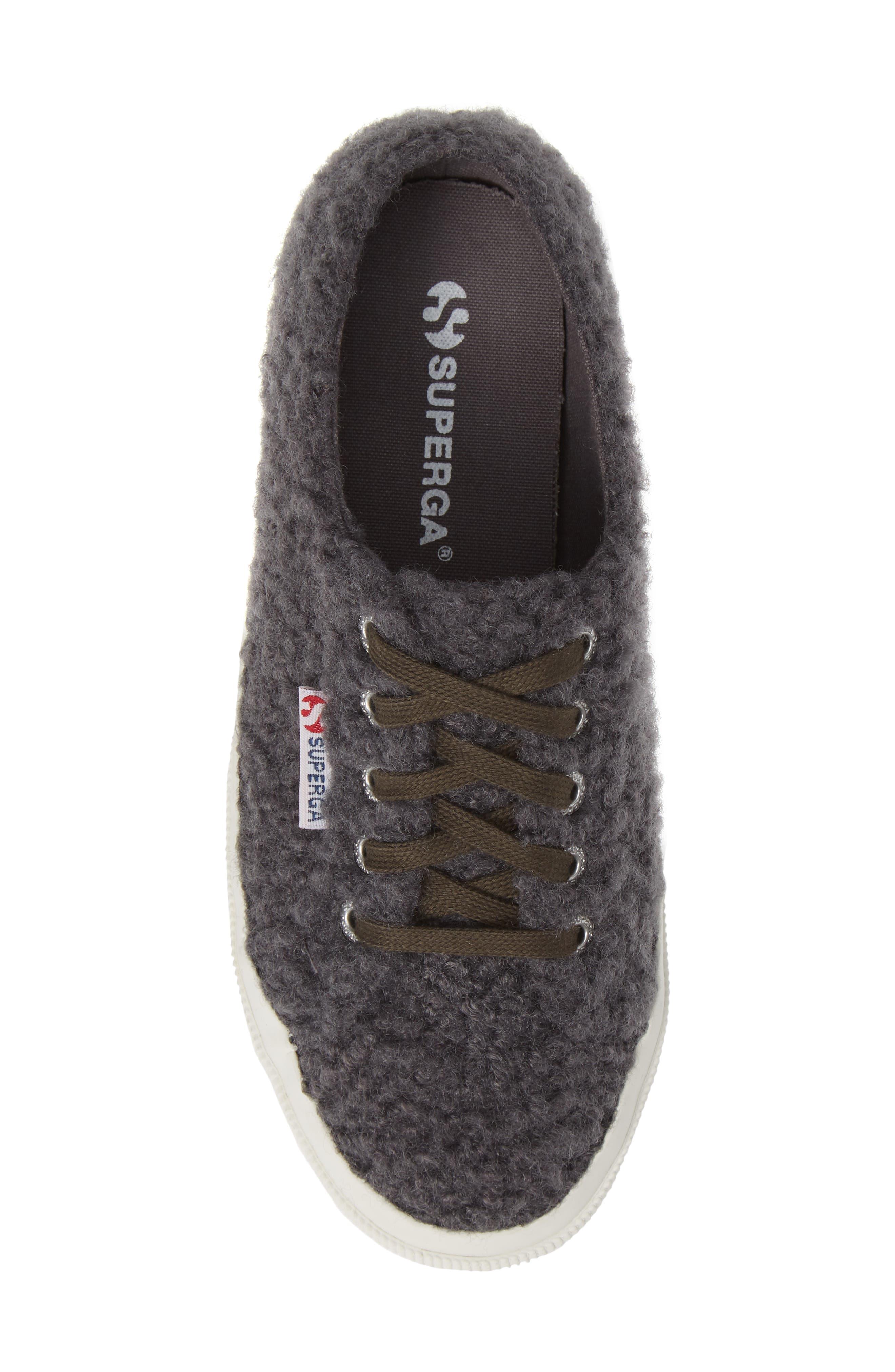 2759 Curly Wool Sneaker,                             Alternate thumbnail 5, color,                             DARK GREY/ GREY