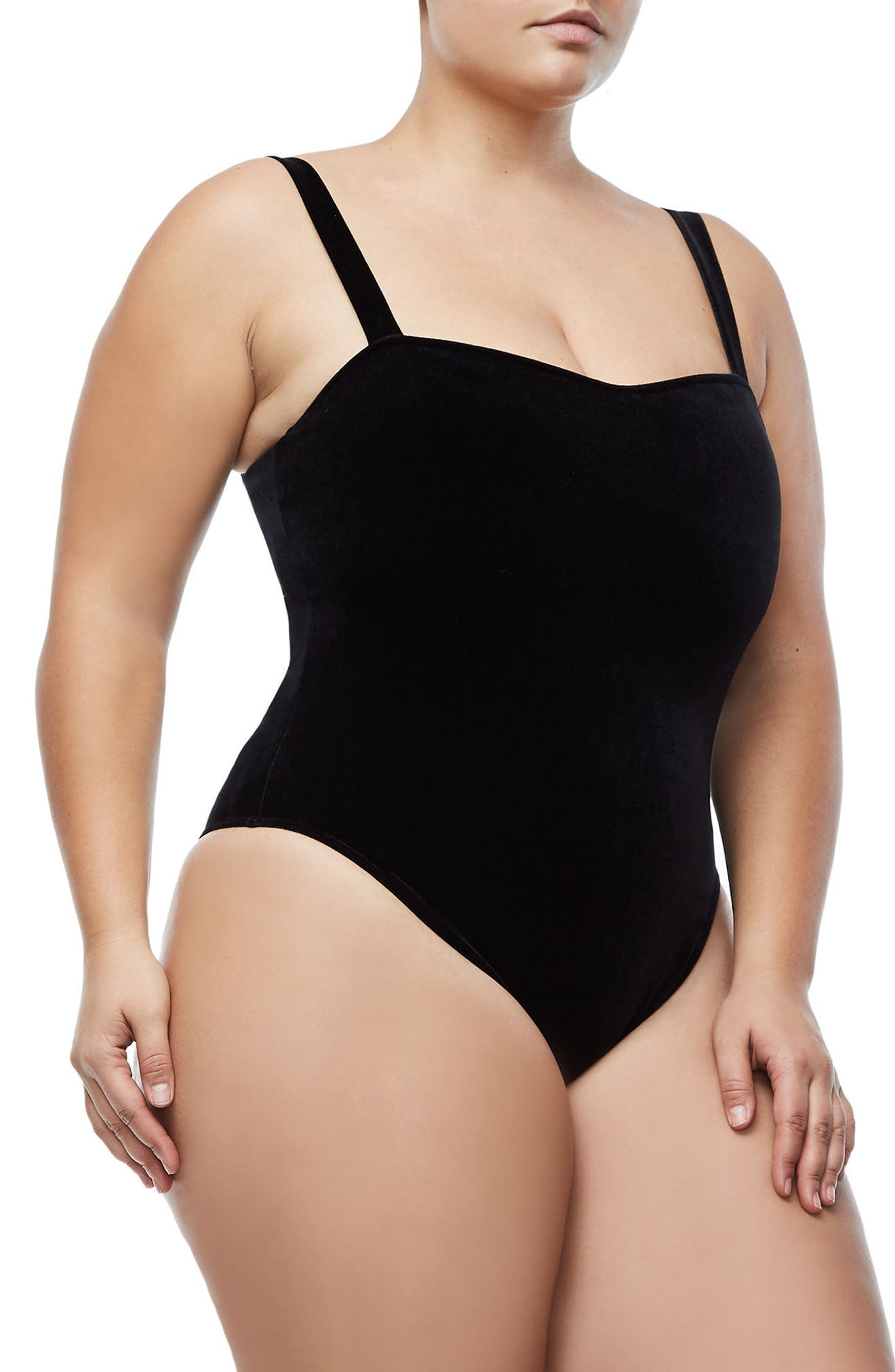 Sweetheart Bodysuit,                             Alternate thumbnail 6, color,                             BLACK001