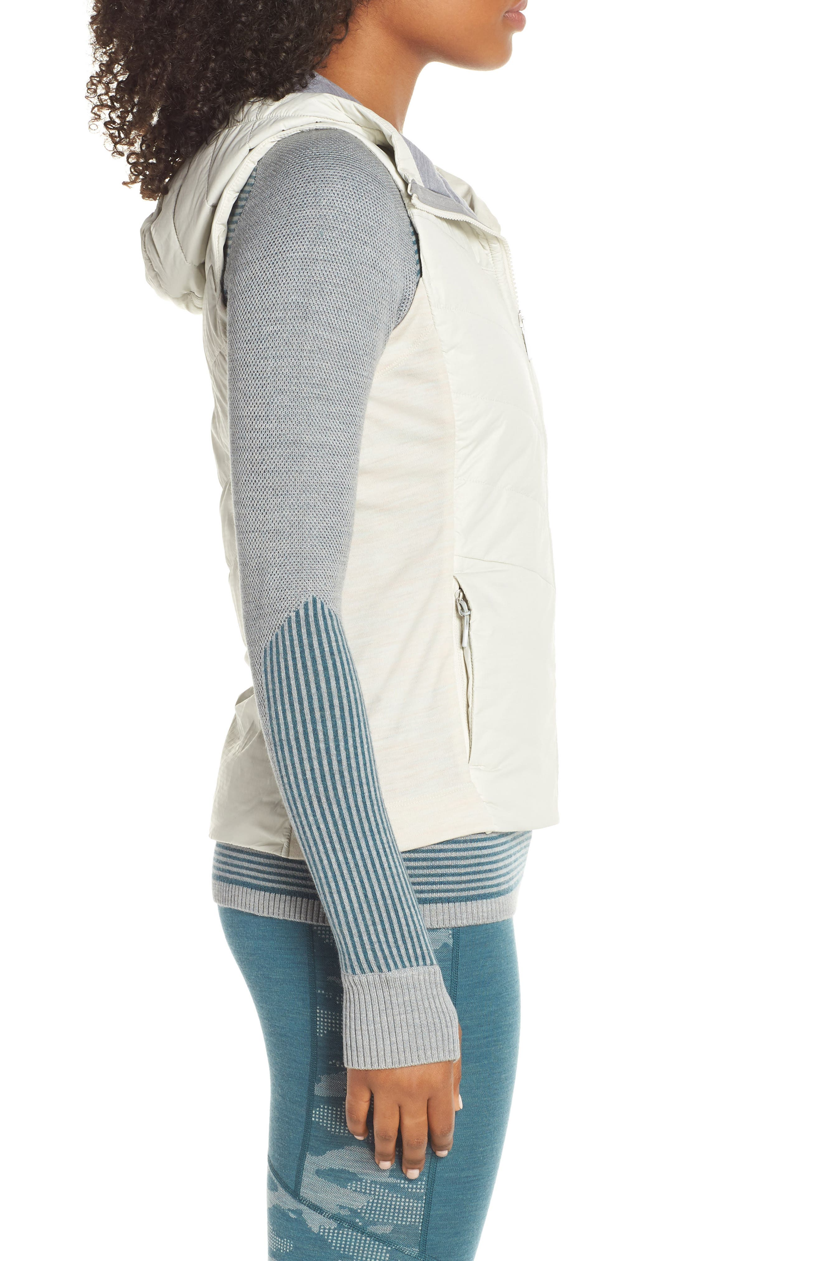 Smartloft 60 Insulated Hooded Vest,                             Alternate thumbnail 3, color,                             SILVER BIRCH