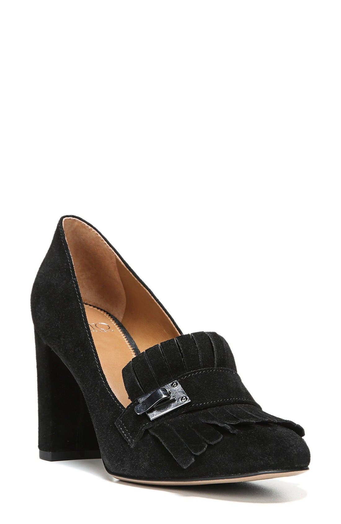 'Ainsley' Loafer Pump,                             Main thumbnail 1, color,                             001