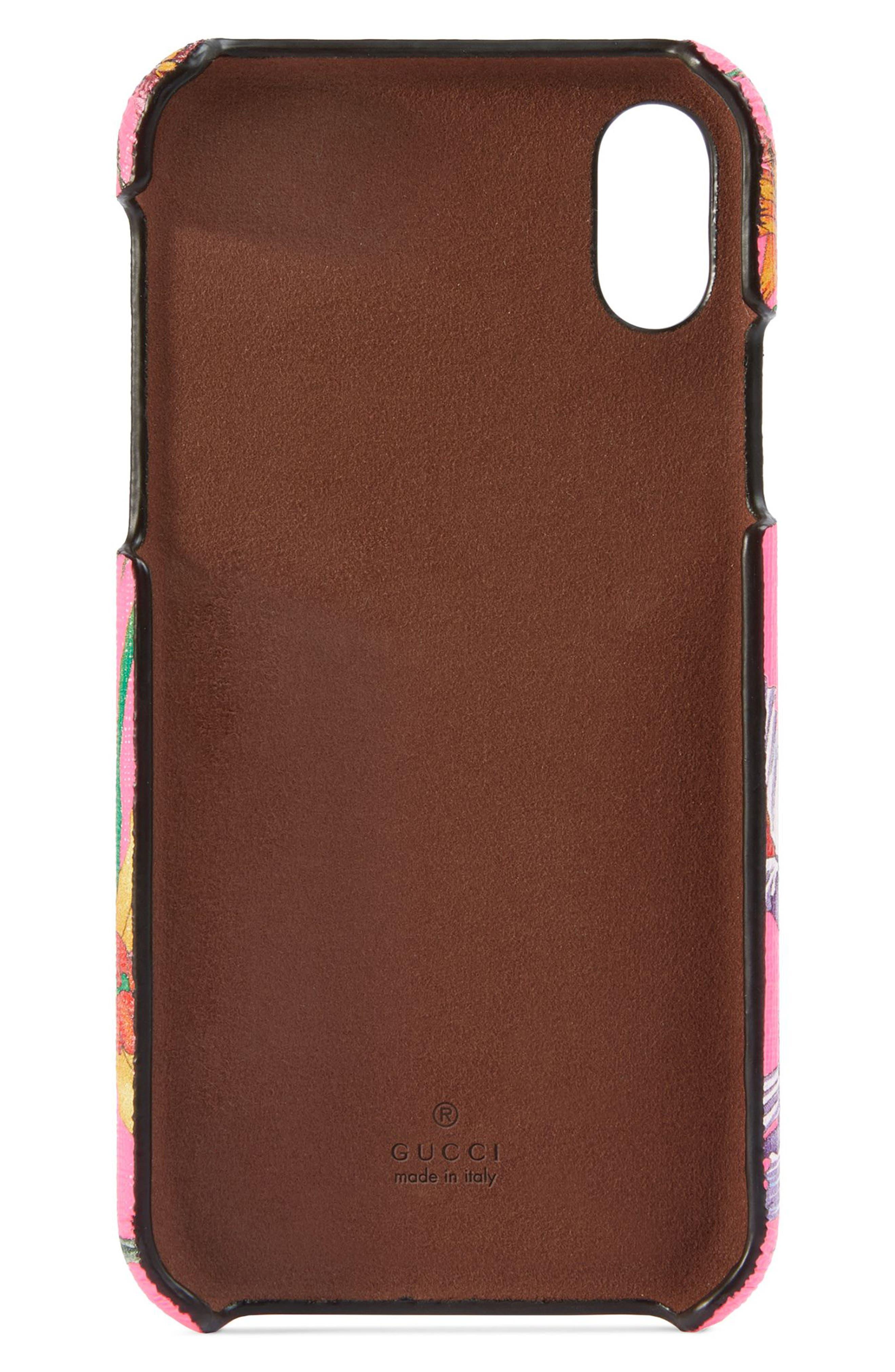 GG Blooms iPhone X/Xs Case,                             Alternate thumbnail 2, color,                             FUXIA FLOURESCENT MULTI