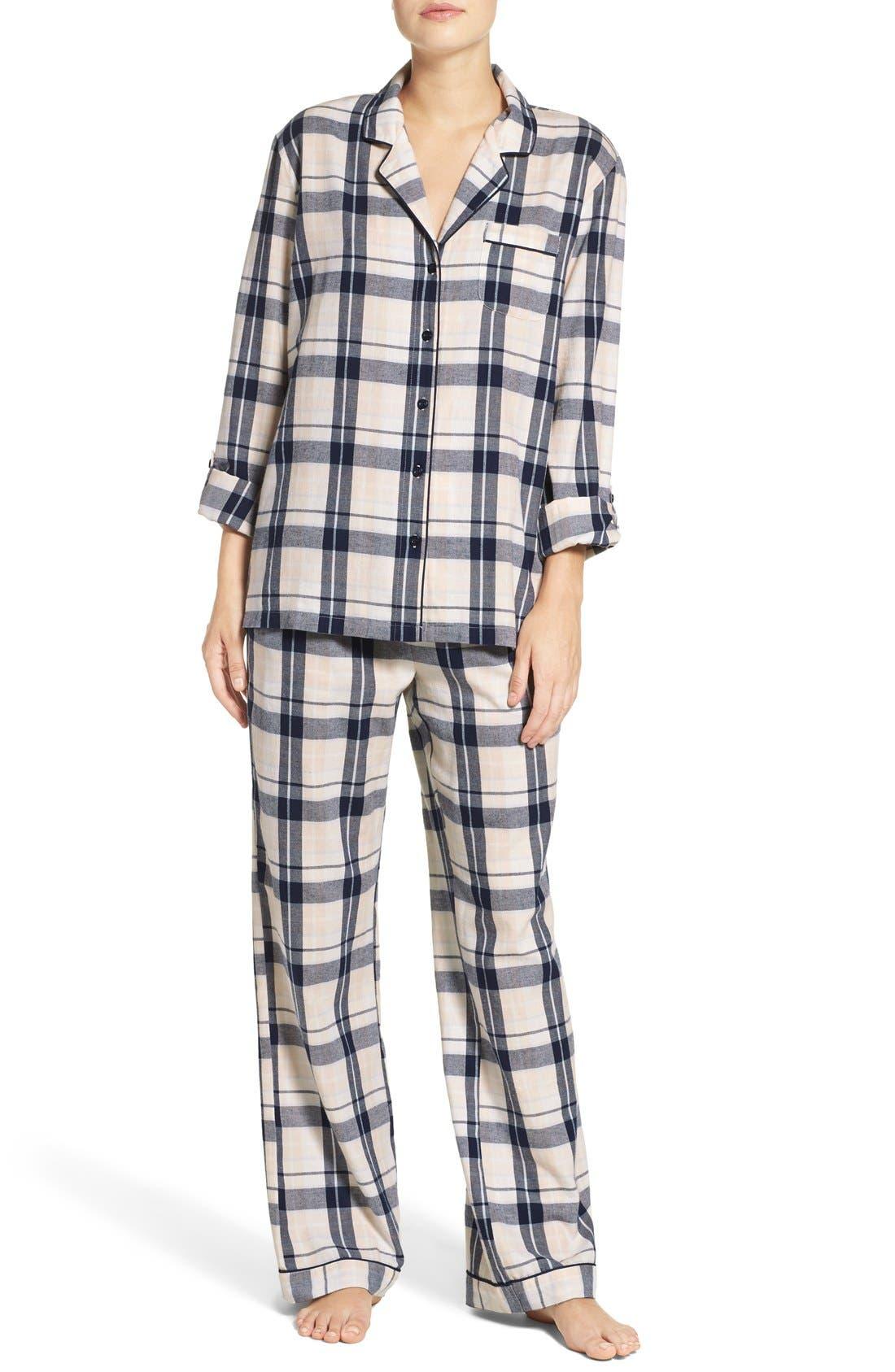 Cotton Twill Pajamas,                             Main thumbnail 6, color,