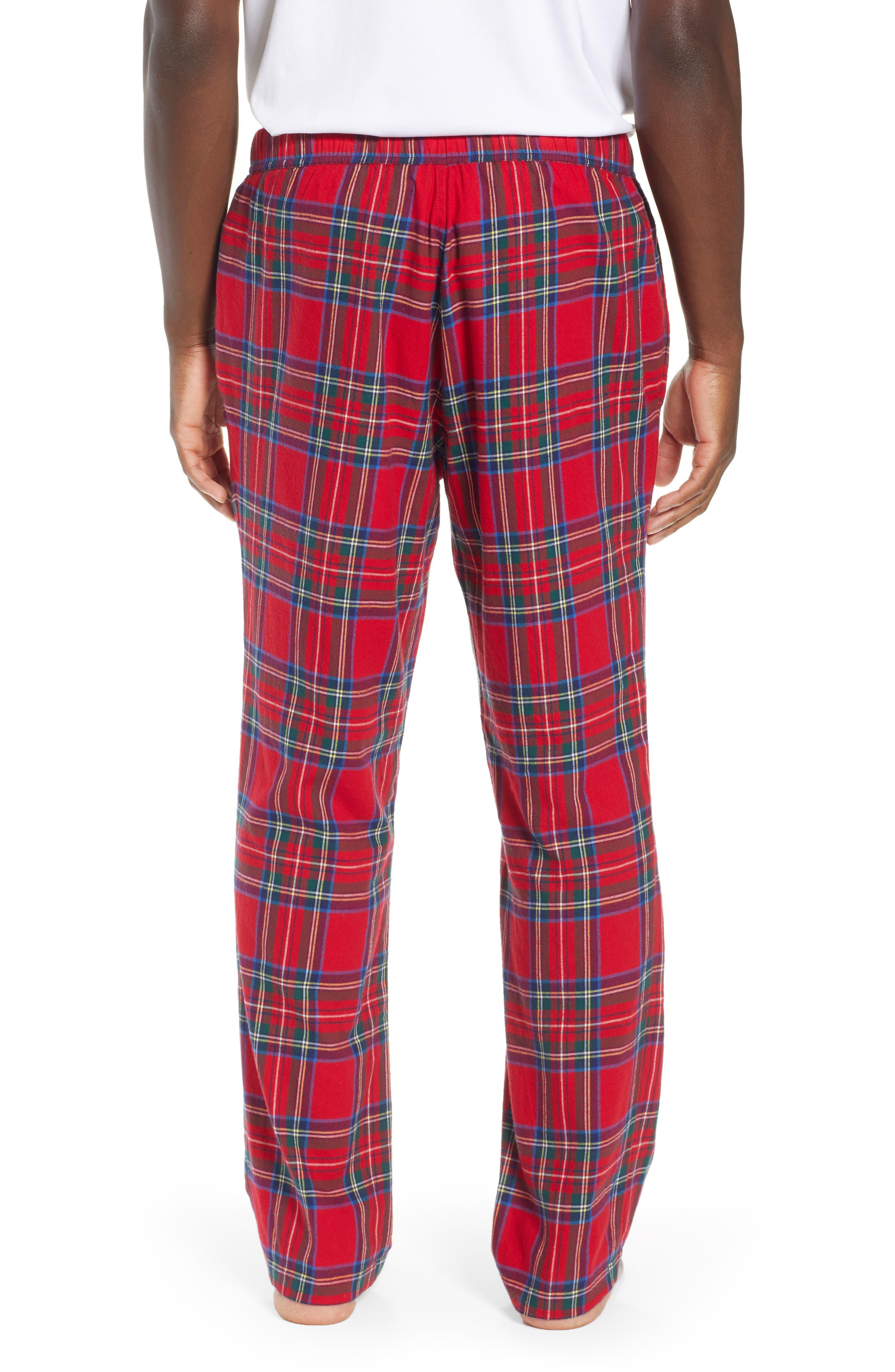Jolly Plaid Cotton Flannel Pajama Pants,                             Alternate thumbnail 2, color,                             786