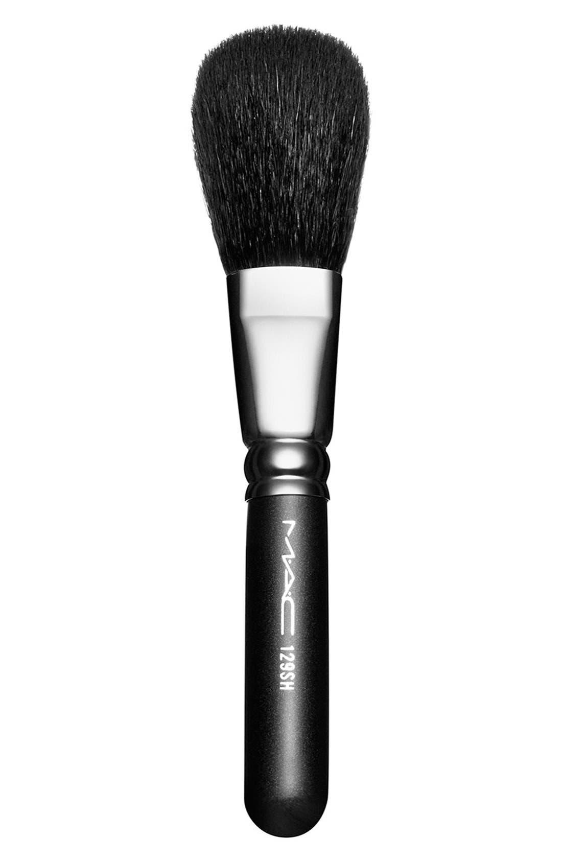 MAC 129SH Powder/Blush Brush,                             Main thumbnail 1, color,                             000