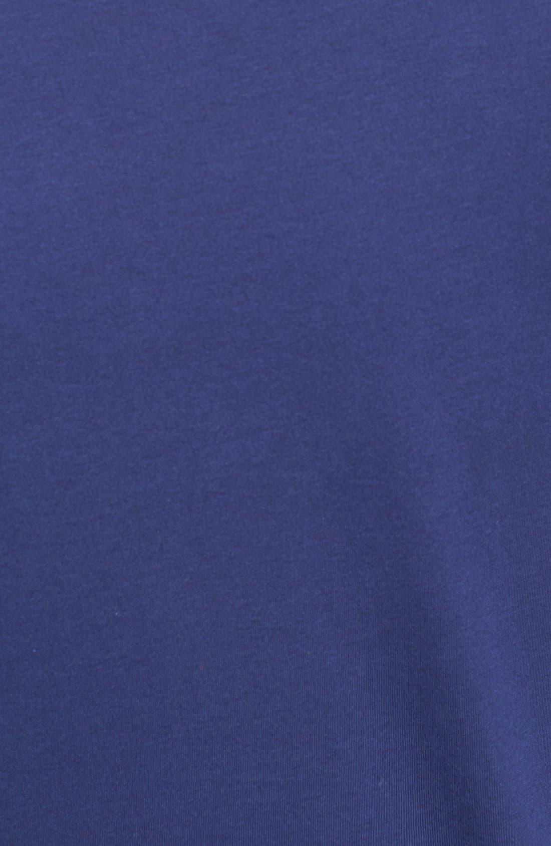 V-Neck Peruvian Pima Cotton T-Shirt,                             Alternate thumbnail 3, color,                             NAVY