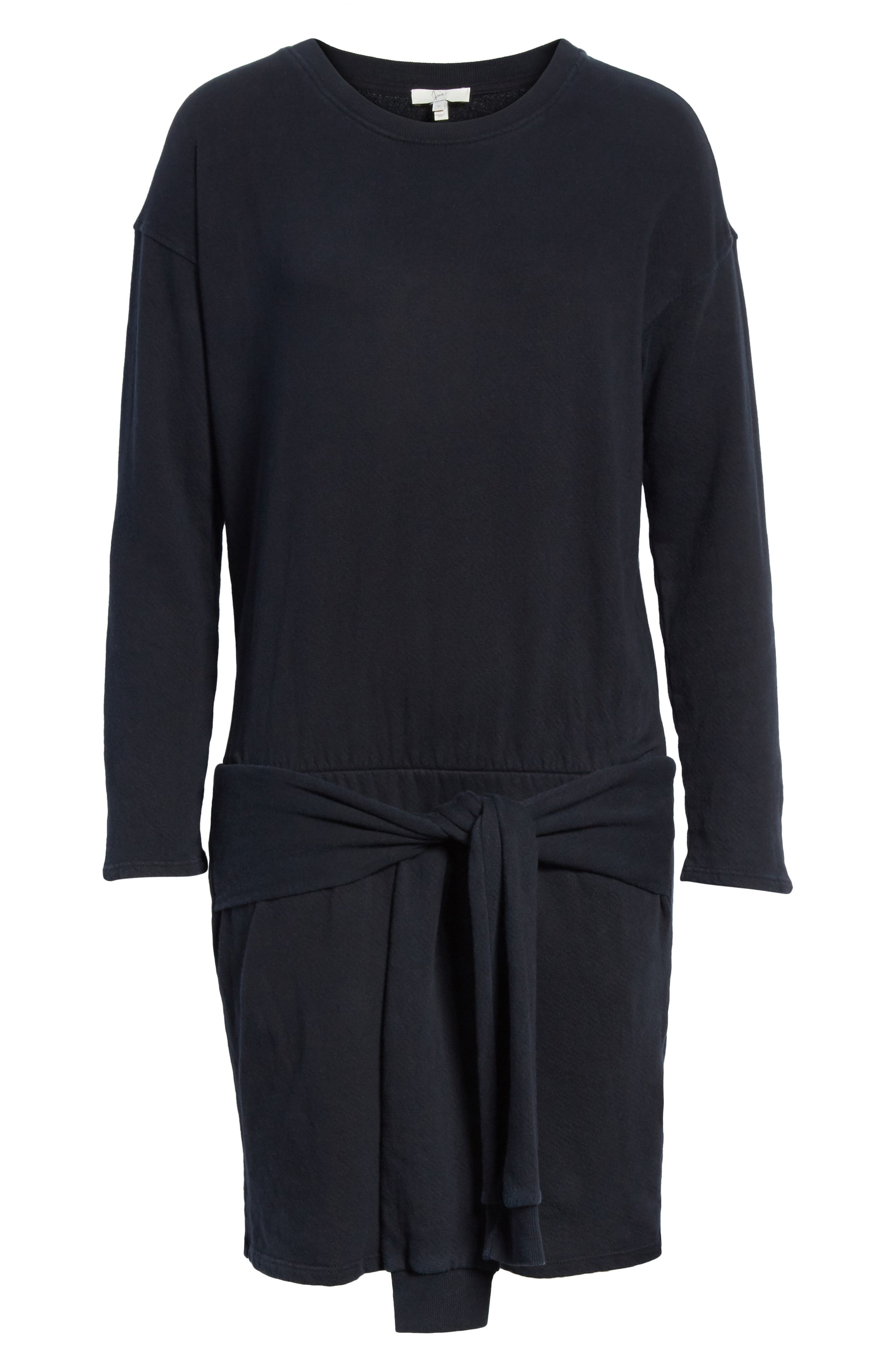 Lucya Tie Waist Cotton Minidress,                             Alternate thumbnail 6, color,                             002