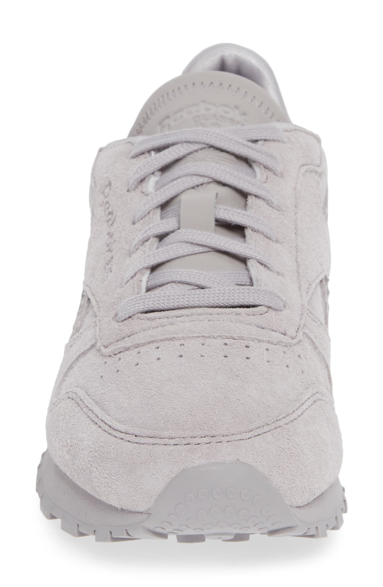REEBOK,                             Classic Leather Sneaker,                             Alternate thumbnail 4, color,                             WHISPER GREY