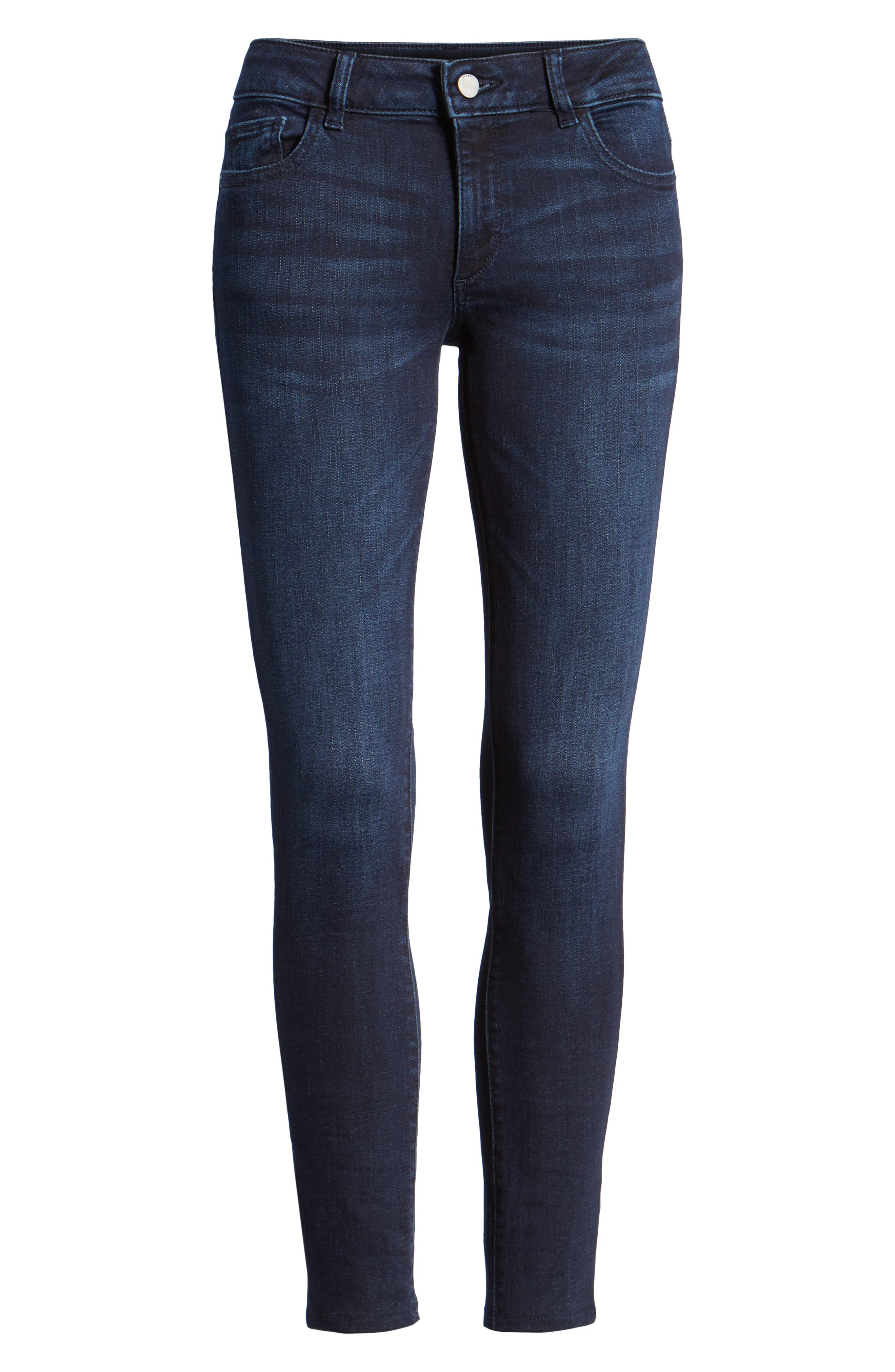Emma Low Rise Ankle Skinny Jeans,                             Alternate thumbnail 7, color,                             NICHOLSON