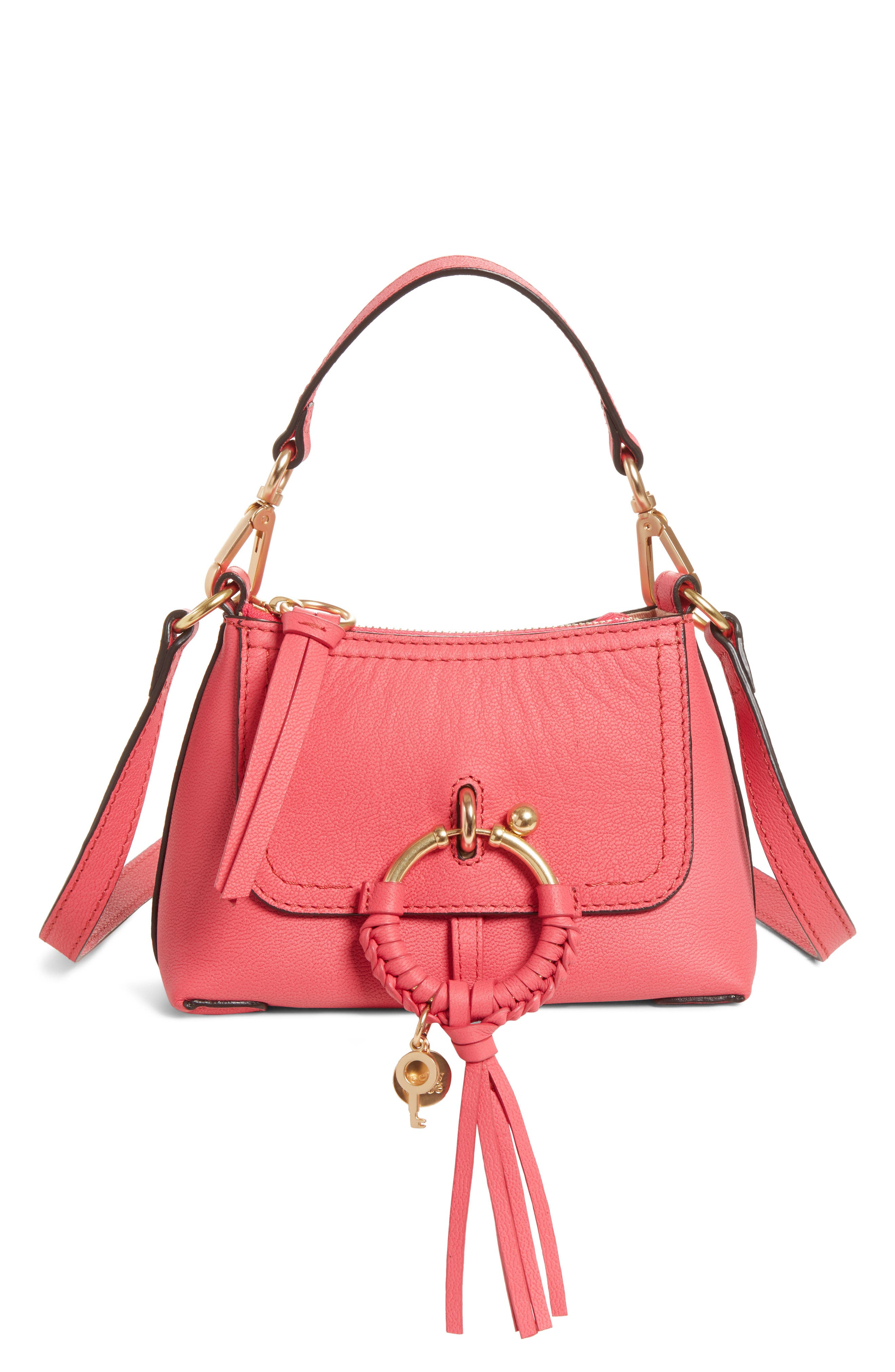 See By Chloe Mini Joan Leather Crossbody Bag - Pink