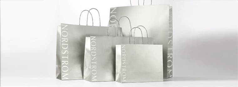 Nordstrom recycling, paper and packaging.