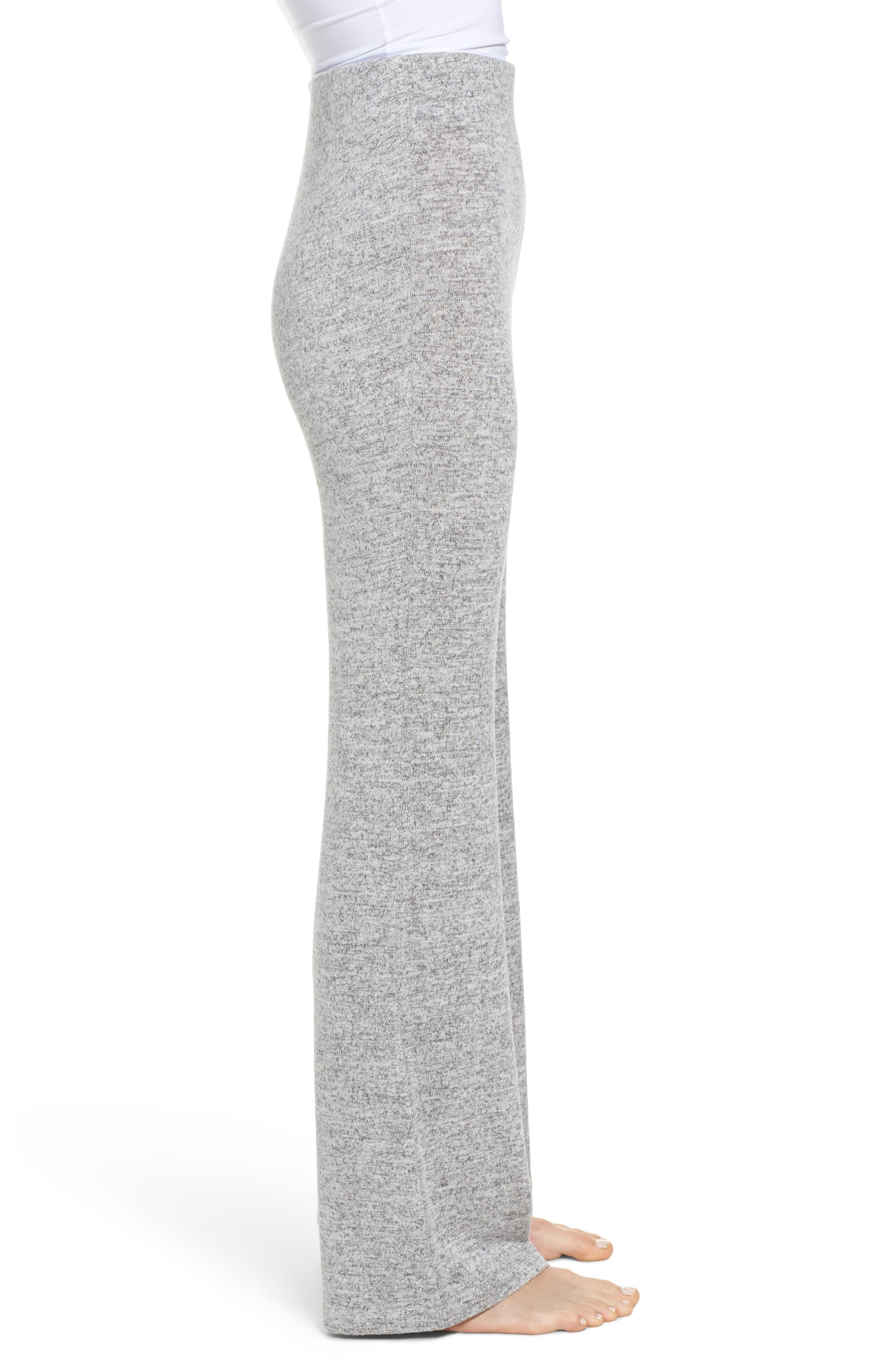 Wendall Wide Leg Lounge Pants,                             Alternate thumbnail 3, color,                             H GREY