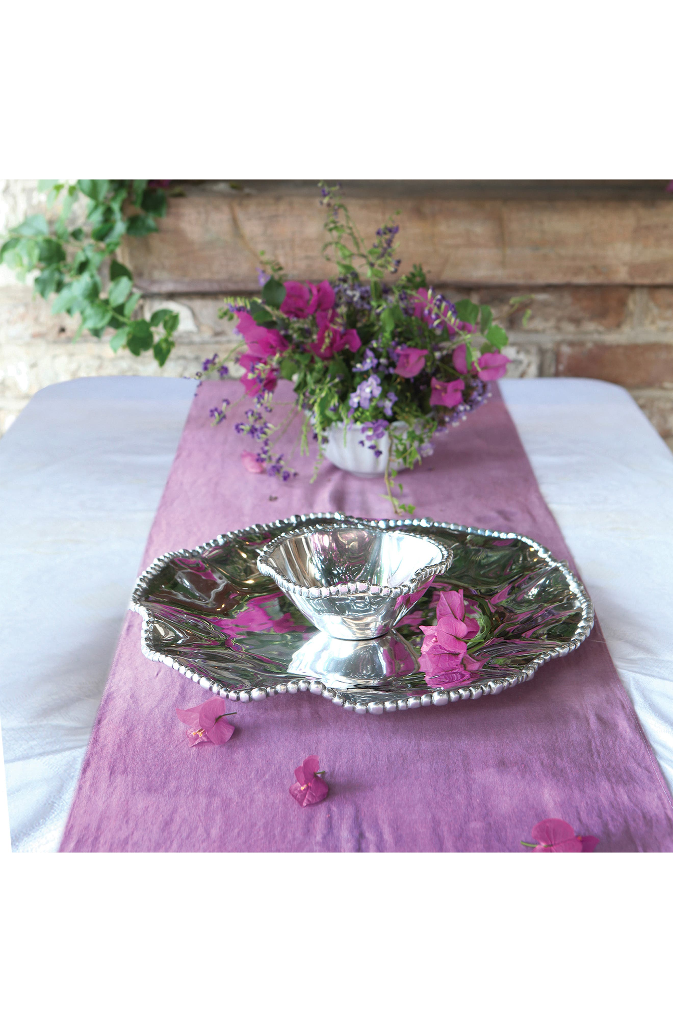 BEATRIZ BALL COLLECTION,                             Pearl Olanissimo Round Chip & Dip Server,                             Alternate thumbnail 2, color,                             SILVER