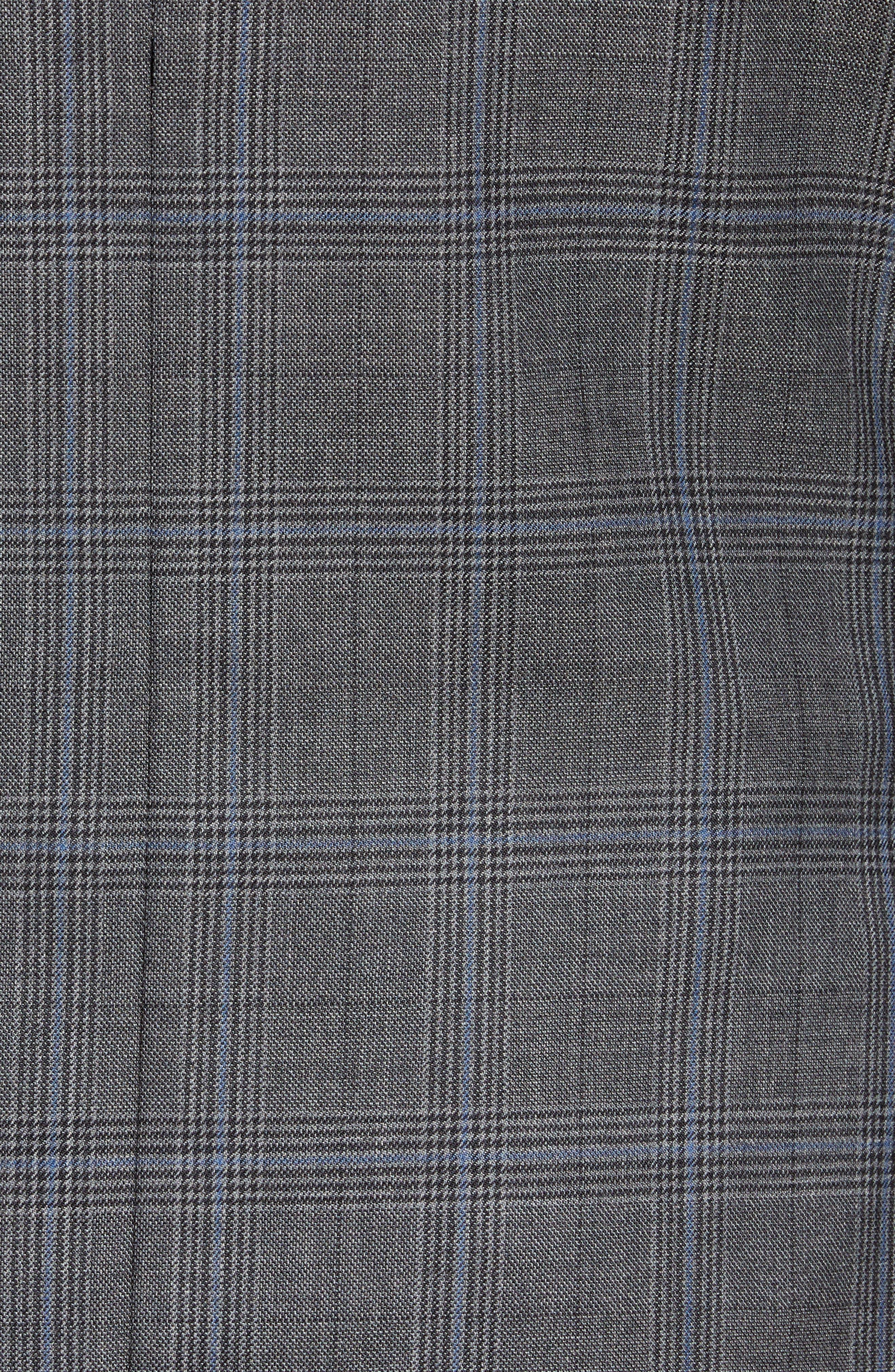 Classic Fit Plaid Wool Sport Coat,                             Alternate thumbnail 6, color,                             GREY