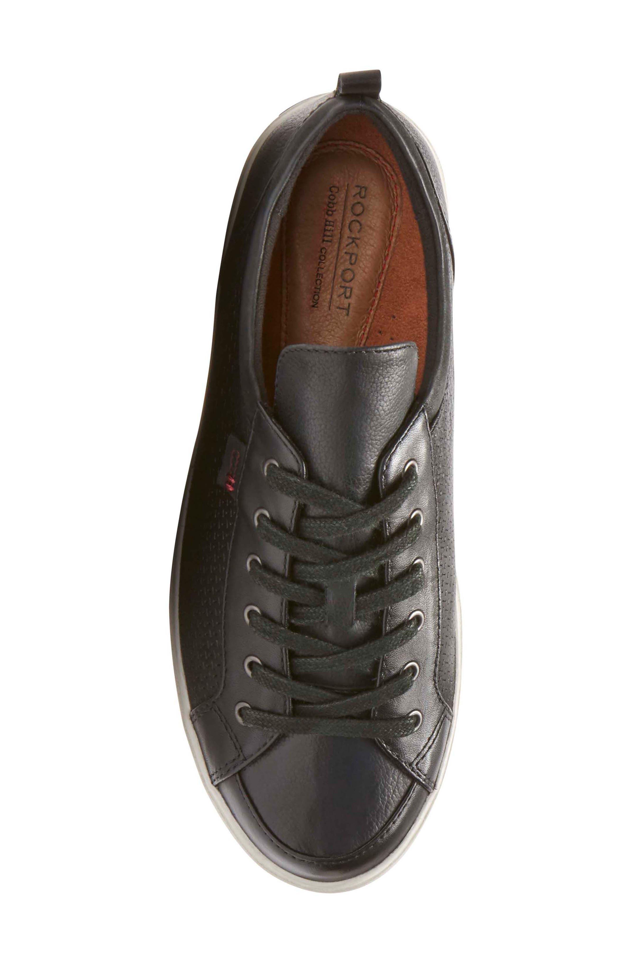 Willa Sneaker,                             Alternate thumbnail 5, color,                             BLACK LEATHER