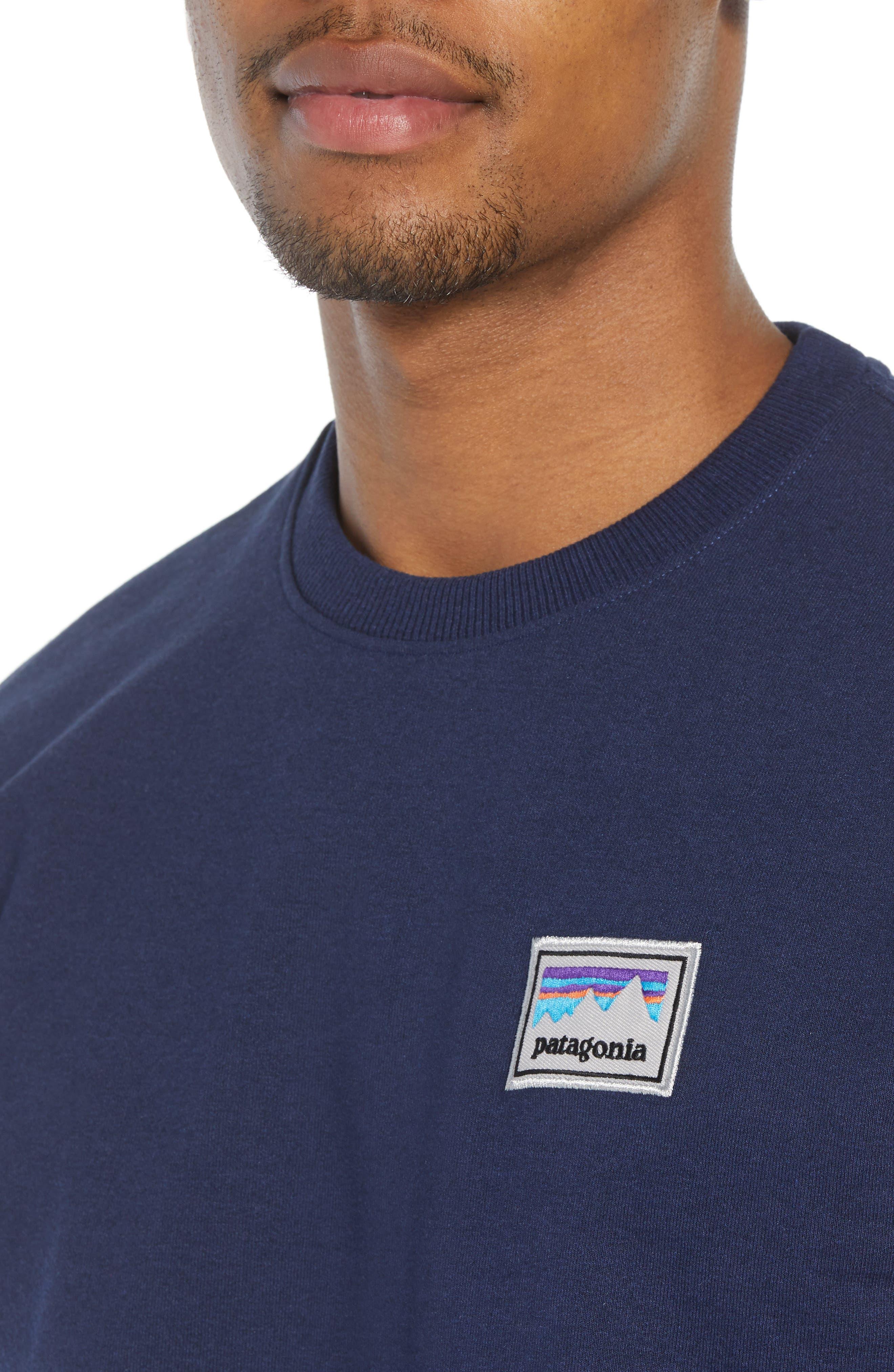 Shop Sticker Patch Uprisal Crew Sweatshirt,                             Alternate thumbnail 4, color,                             CLASSIC NAVY