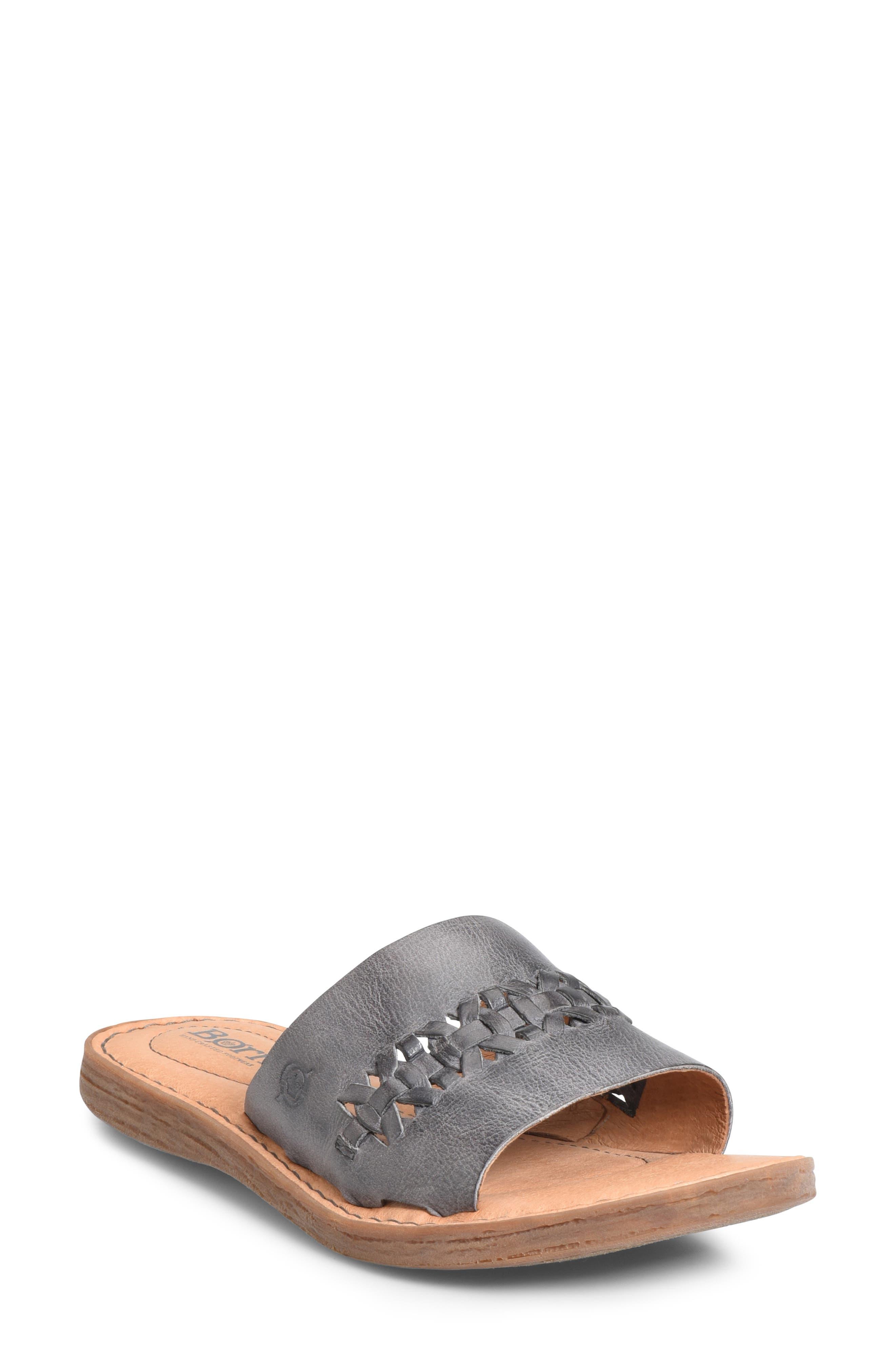 B?rn St. Francis Slide Sandal, Grey