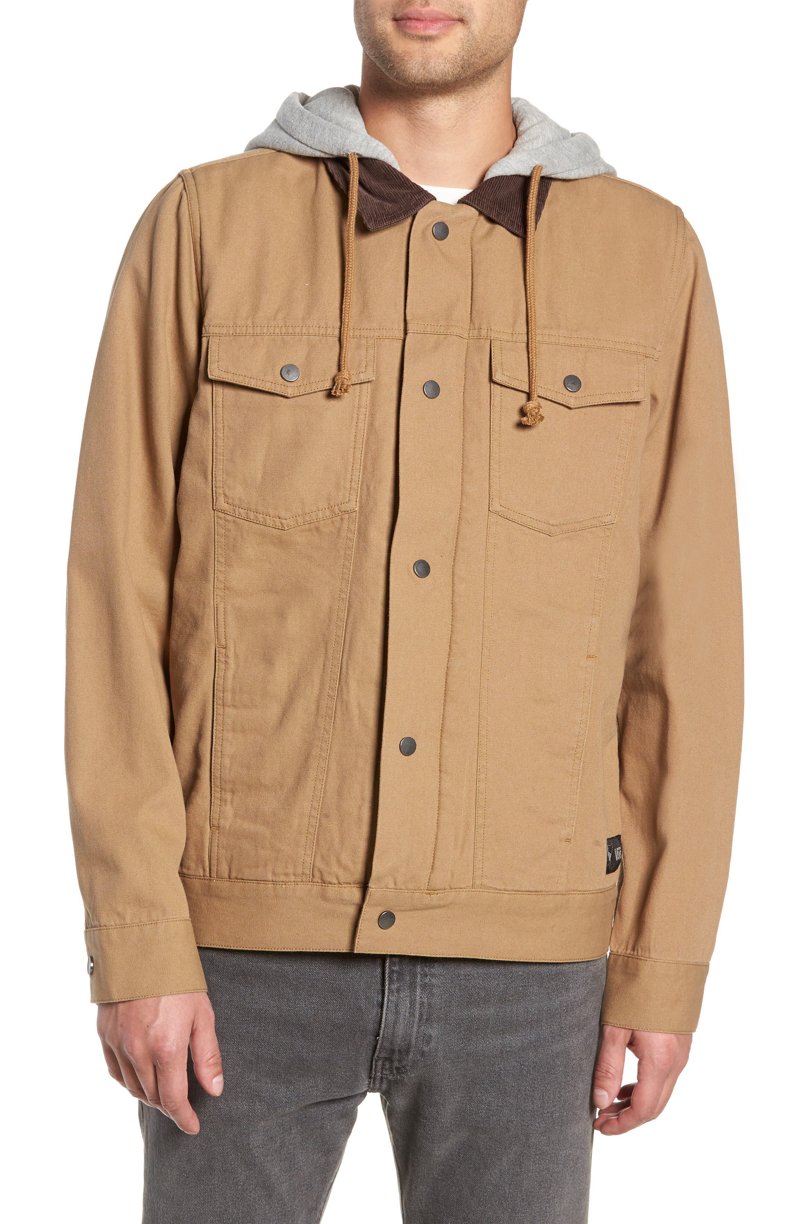 AV Edict II Canvas Trucker Jacket,                         Main,                         color, DIRT