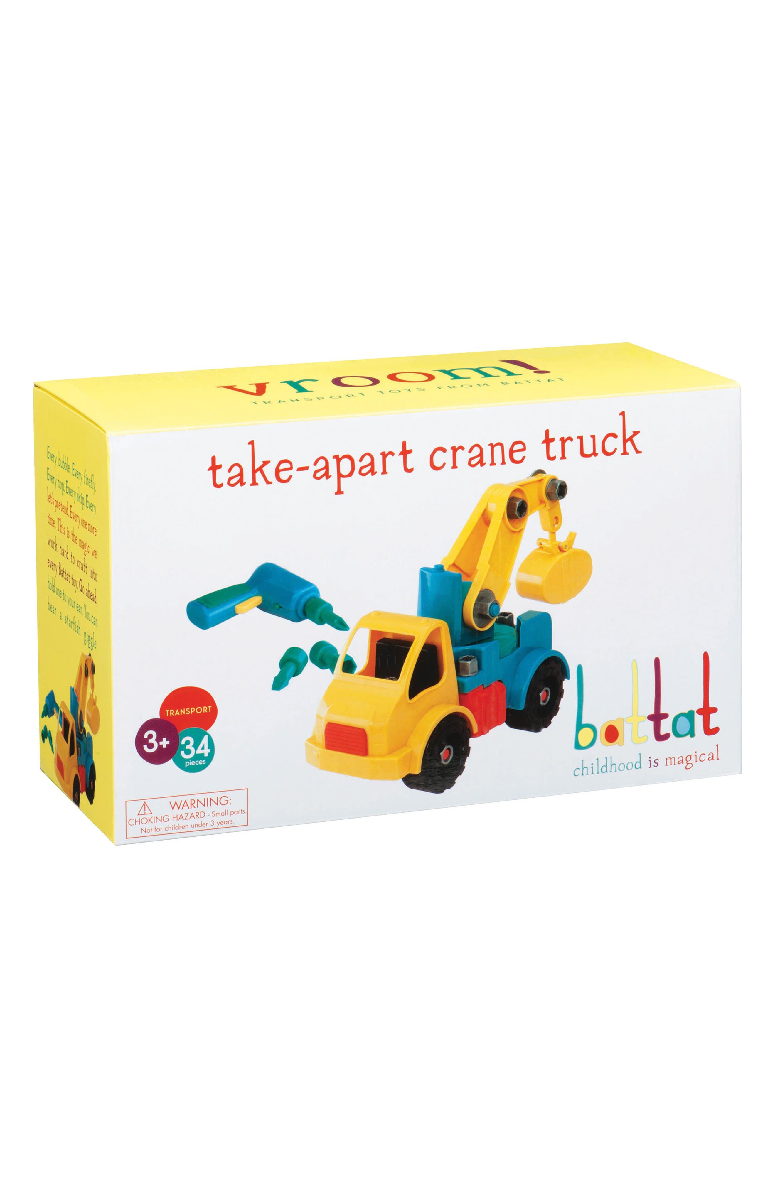 Battat Take-Apart Crane Truck,                             Main thumbnail 1, color,                             700