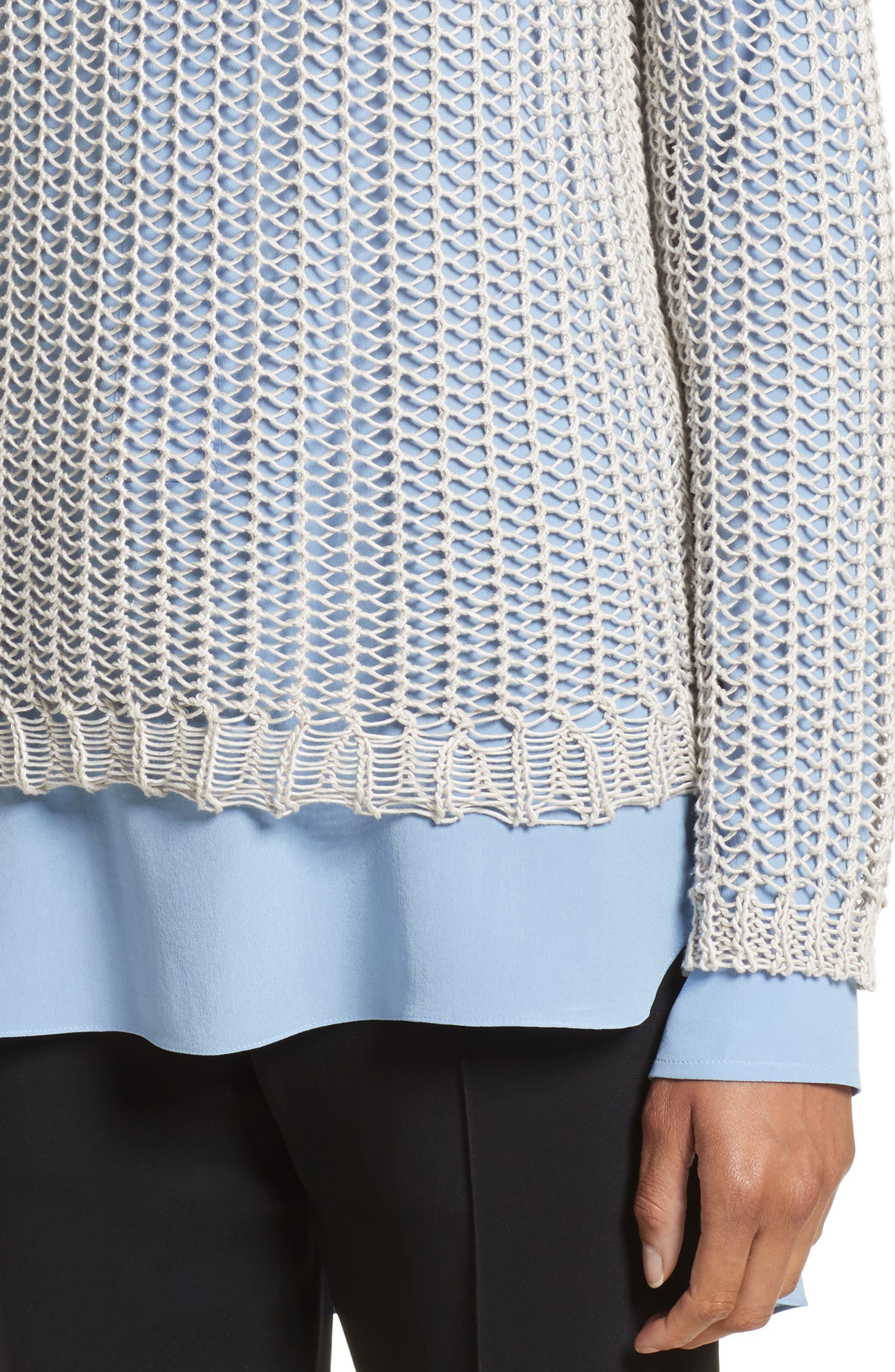 Fishnet Sweater,                             Alternate thumbnail 4, color,                             040