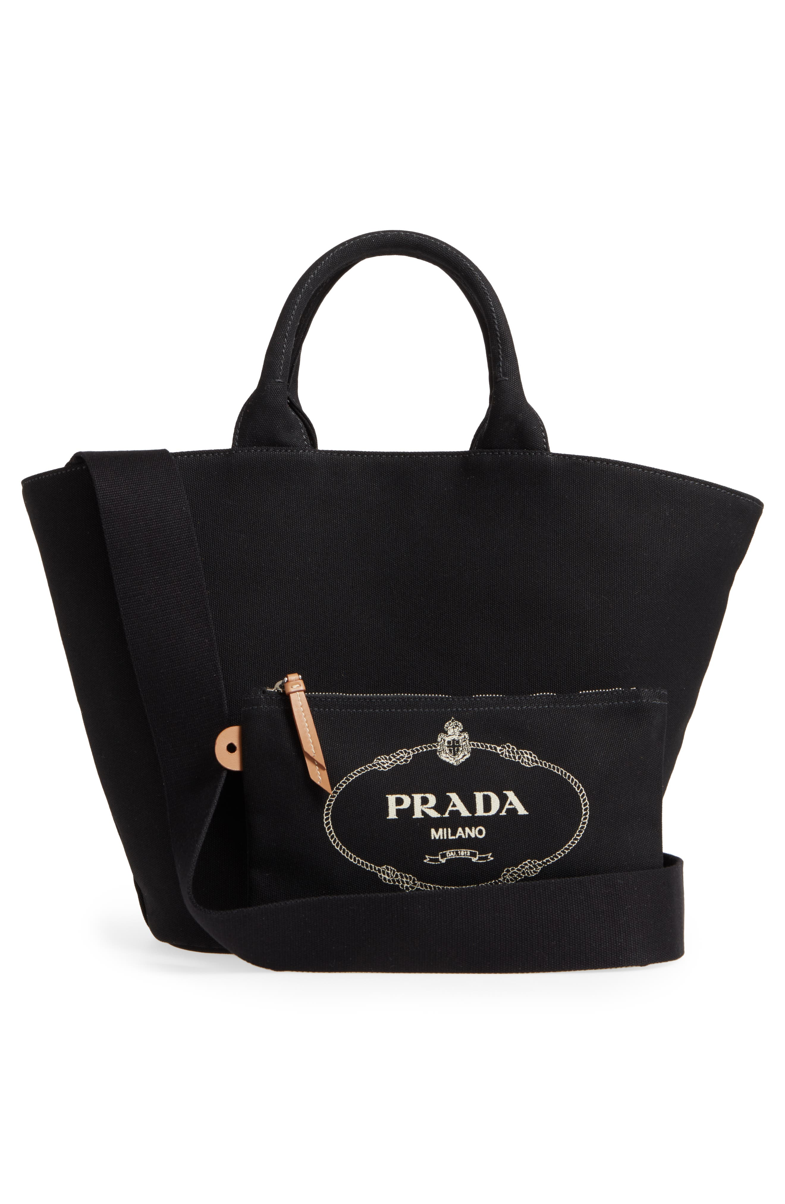 Small Canvas Tote,                             Alternate thumbnail 3, color,                             001