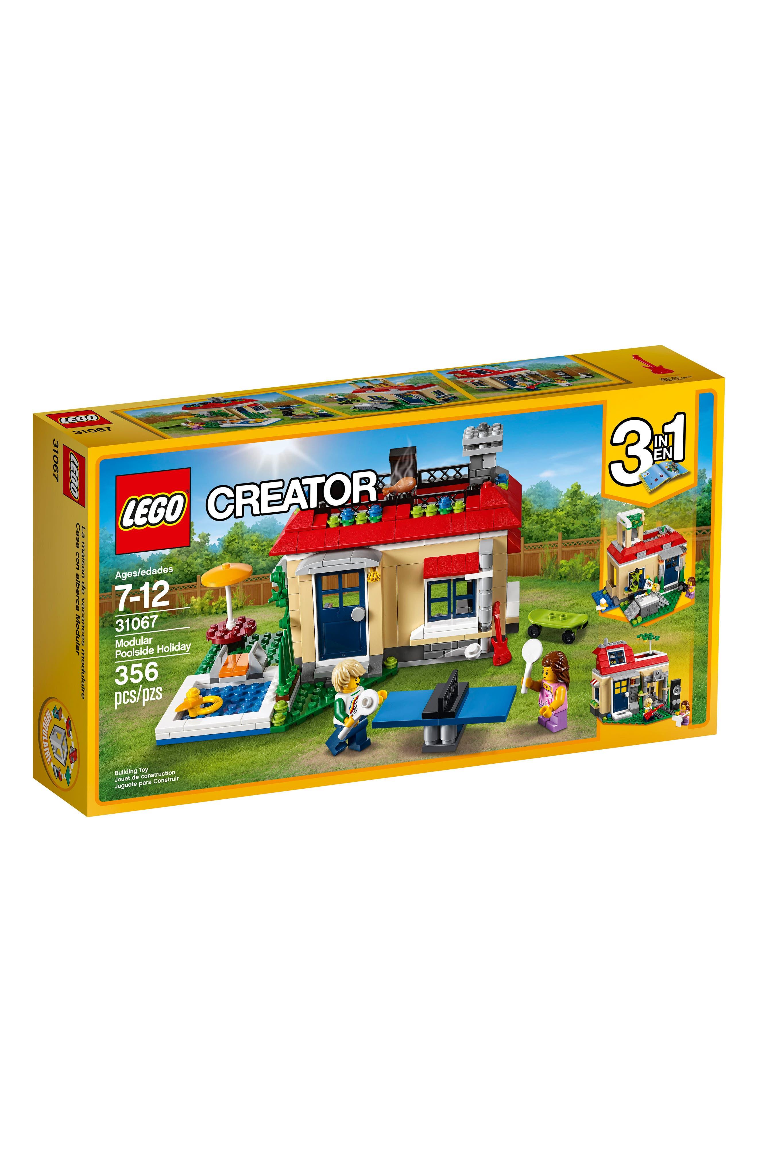 Creator 3-in-1 Modular Poolside Holiday Play Set - 31067,                             Main thumbnail 1, color,                             250