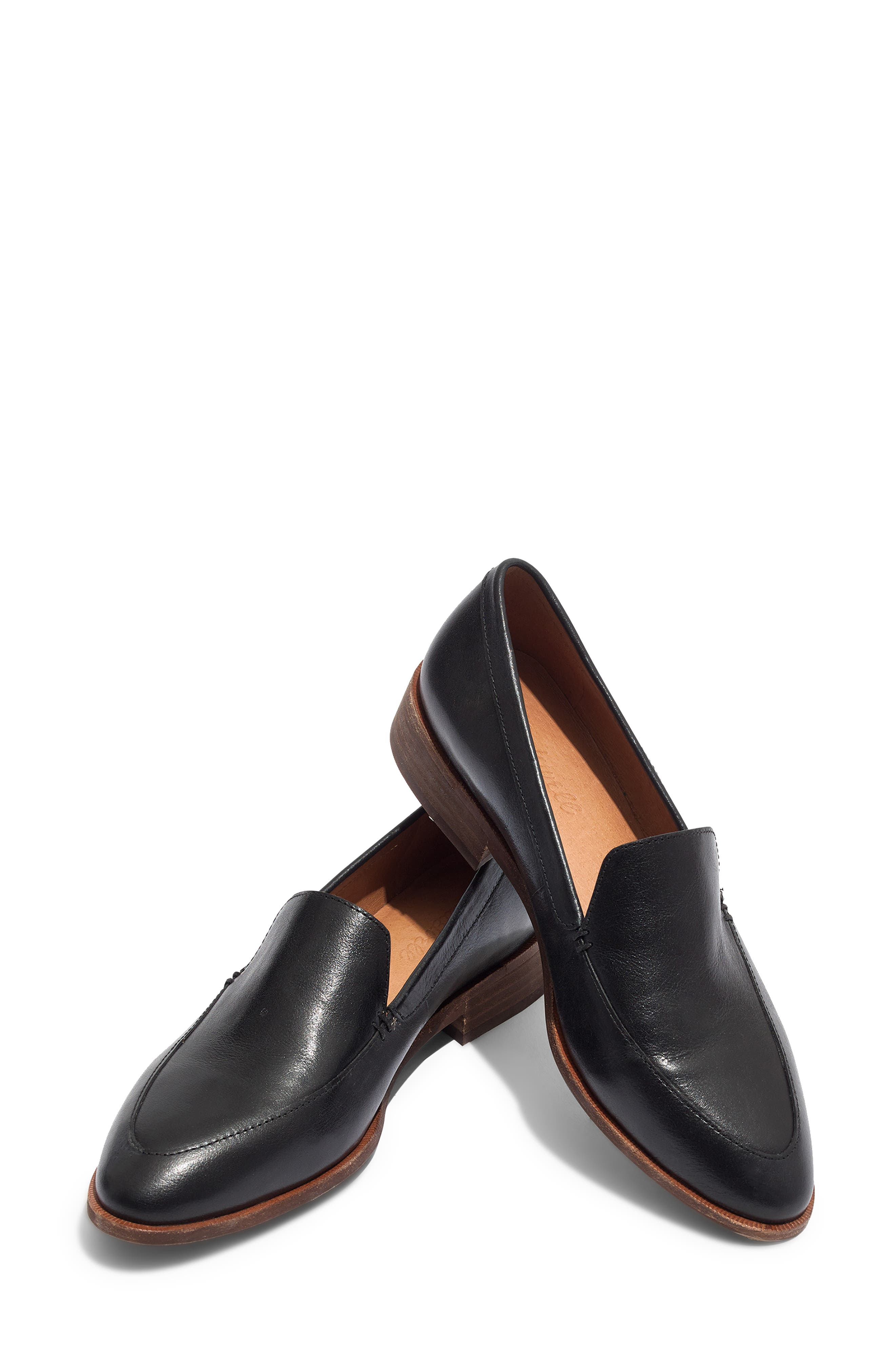 MADEWELL,                             The Frances Loafer,                             Alternate thumbnail 7, color,                             TRUE BLACK LEATHER