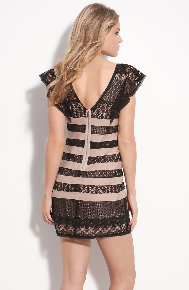 d1249542be3 BCBGMAXAZRIA Stripe Lace Dress