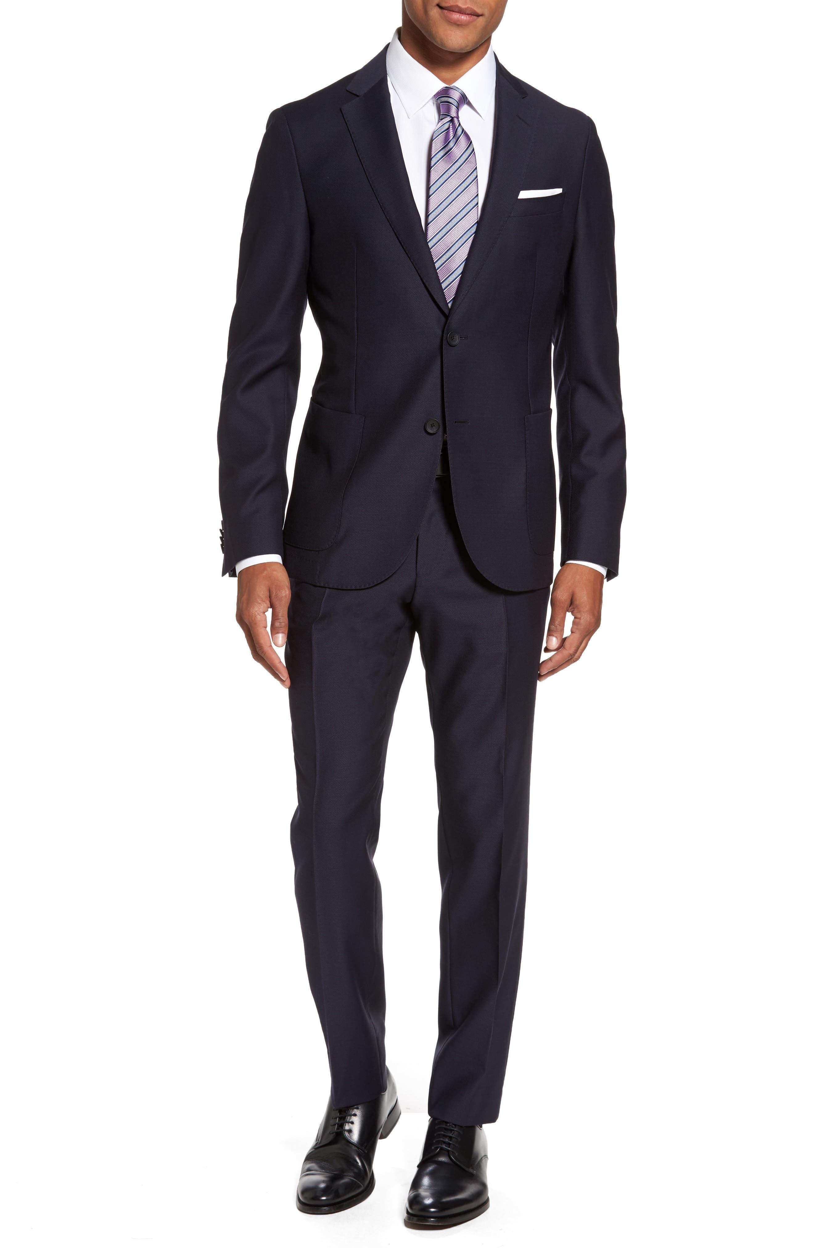 Novan/Ben Classic Fit Solid Wool Suit,                         Main,                         color, 410