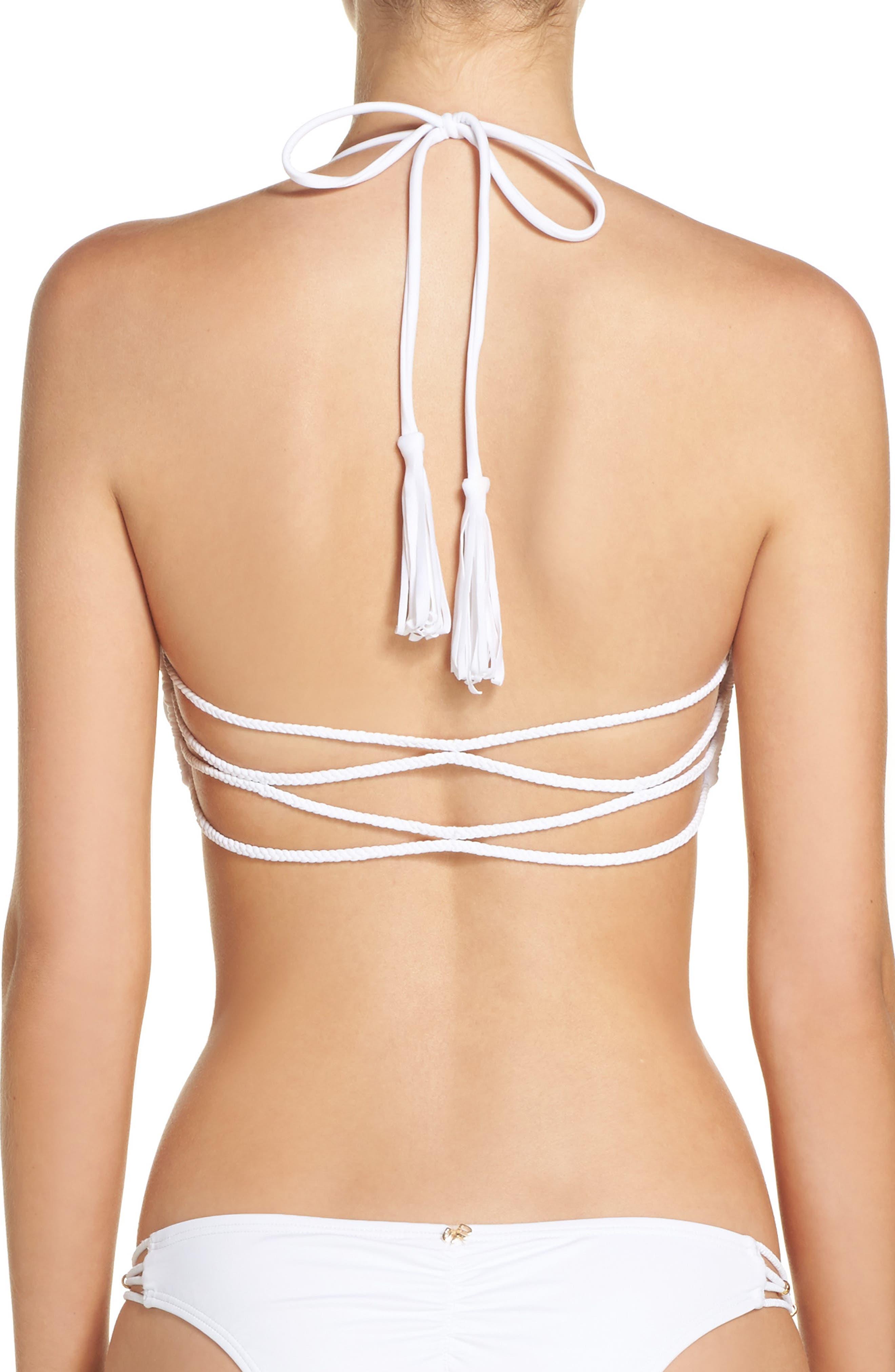 Braided Halter Bikini Top,                             Alternate thumbnail 2, color,                             100