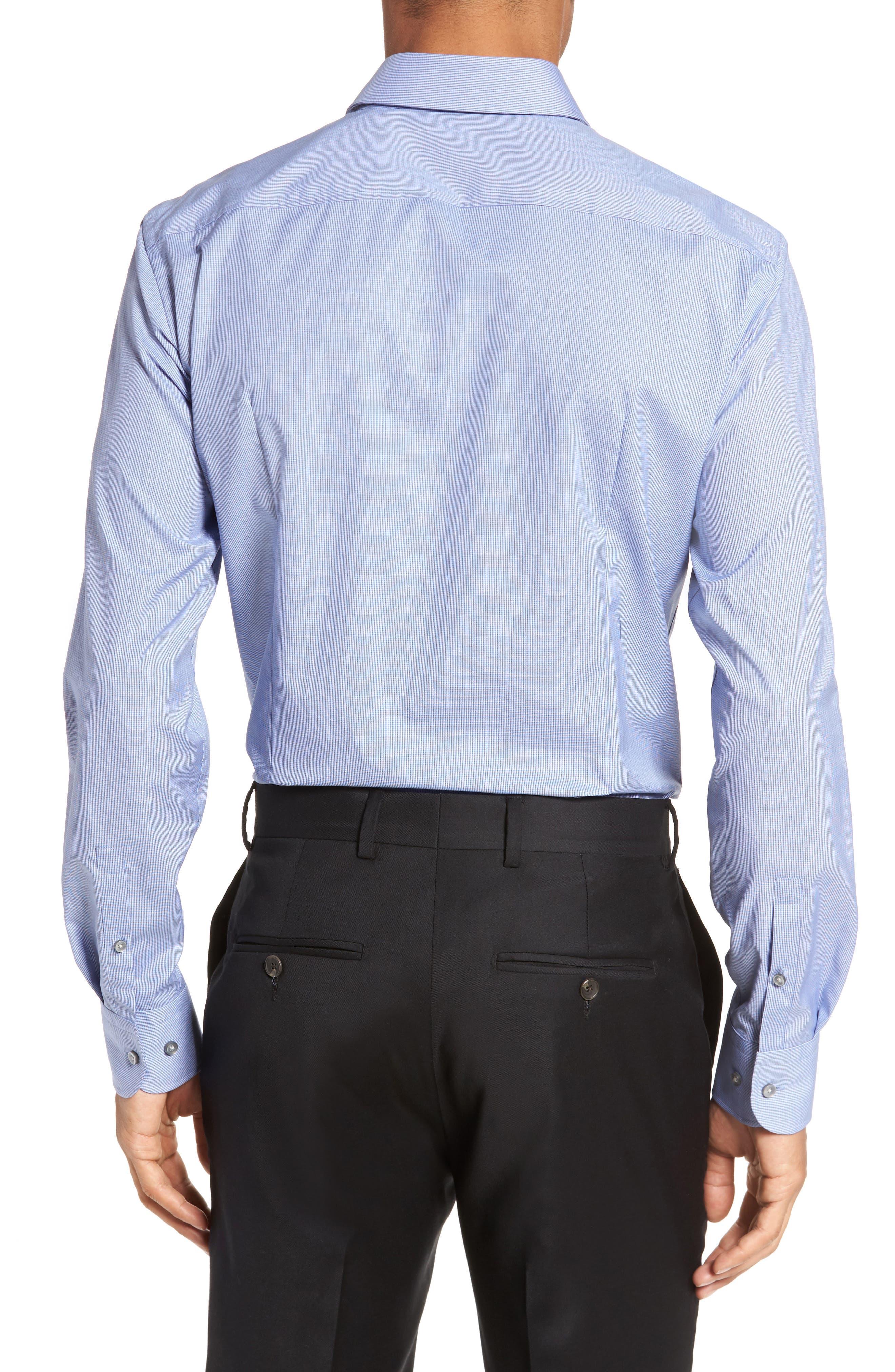 Jerris Slim Fit Easy Iron Check Dress Shirt,                             Alternate thumbnail 2, color,                             NAVY