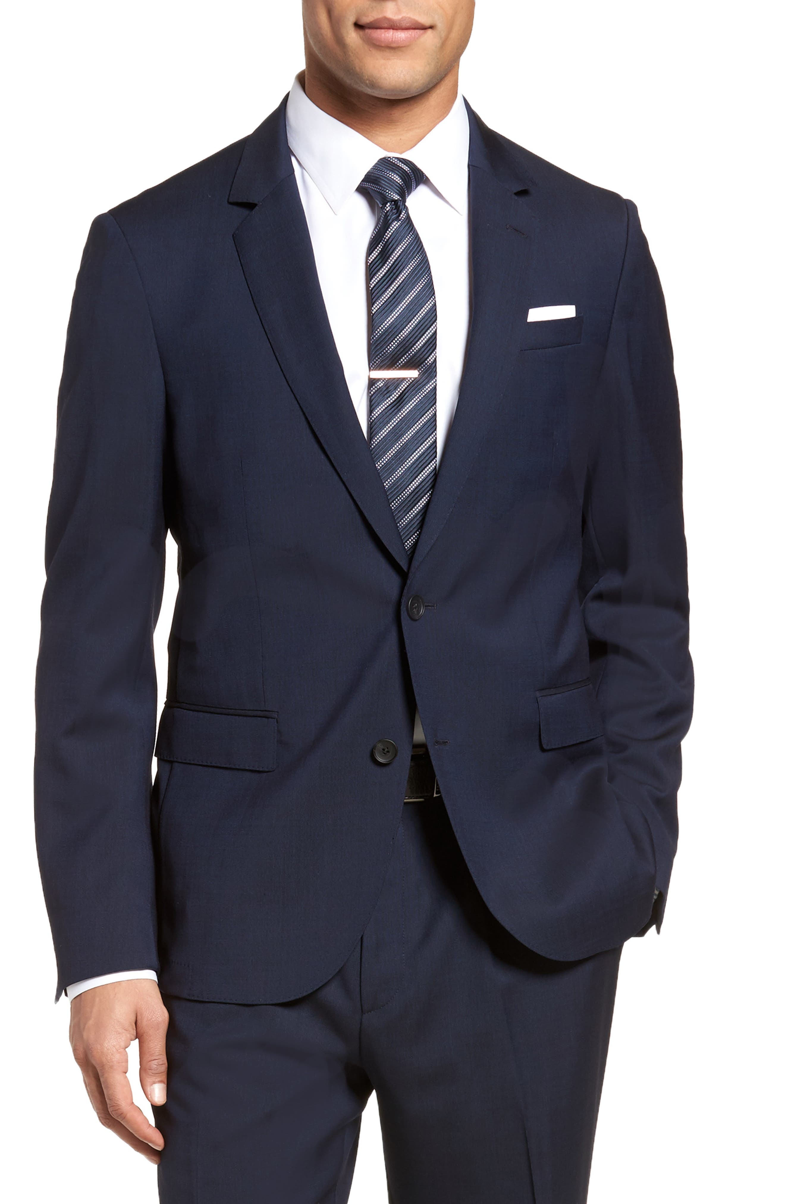 Nylen/Perry Trim Fit Solid Wool Suit,                             Alternate thumbnail 6, color,
